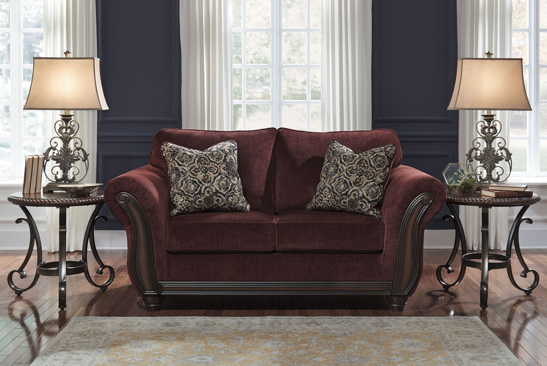 Chesterbrook Burgundy Loveseat From Ashley 8810235