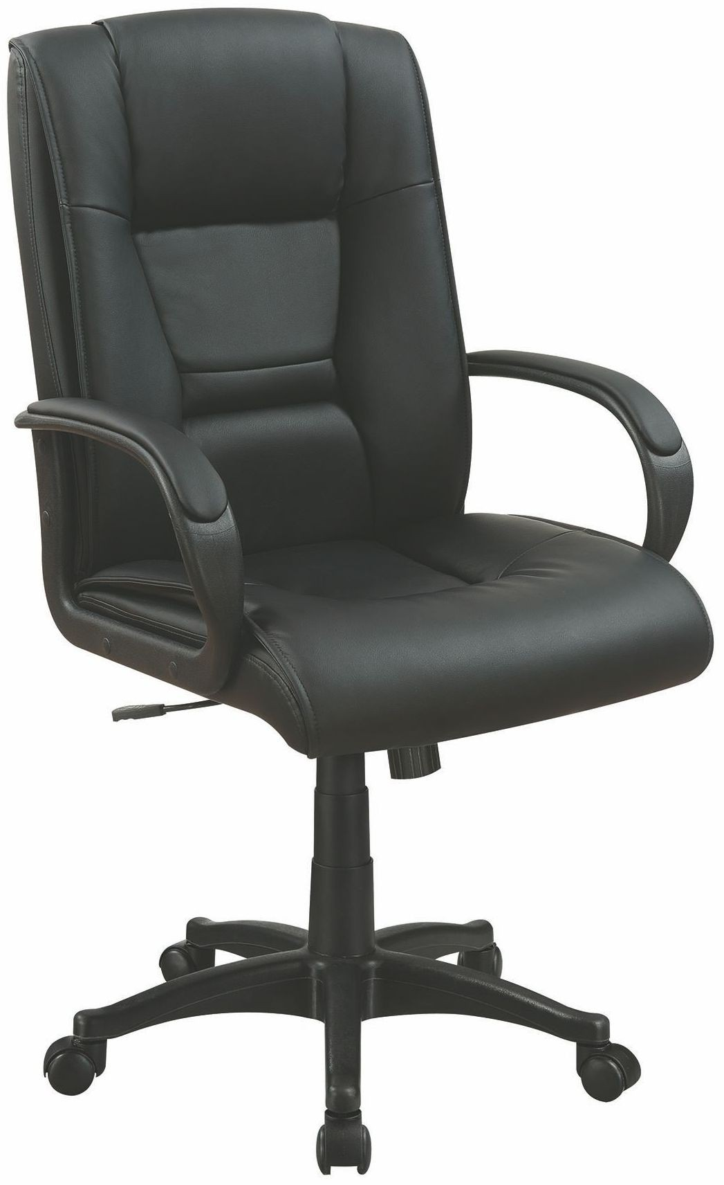 Black Vinyl Office Chair From Coaster Coleman Furniture
