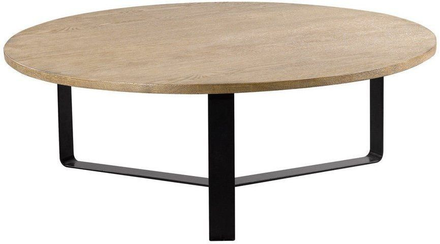 Gap Black And Brown Round Coffee Table From Curations Limited Coleman Furniture