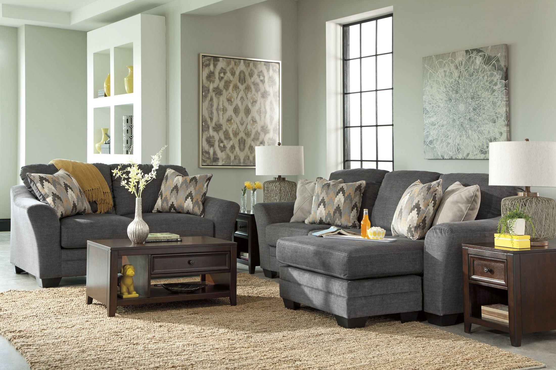Braxlin Charcoal Queen Sofa Chaise Sleeper from Ashley