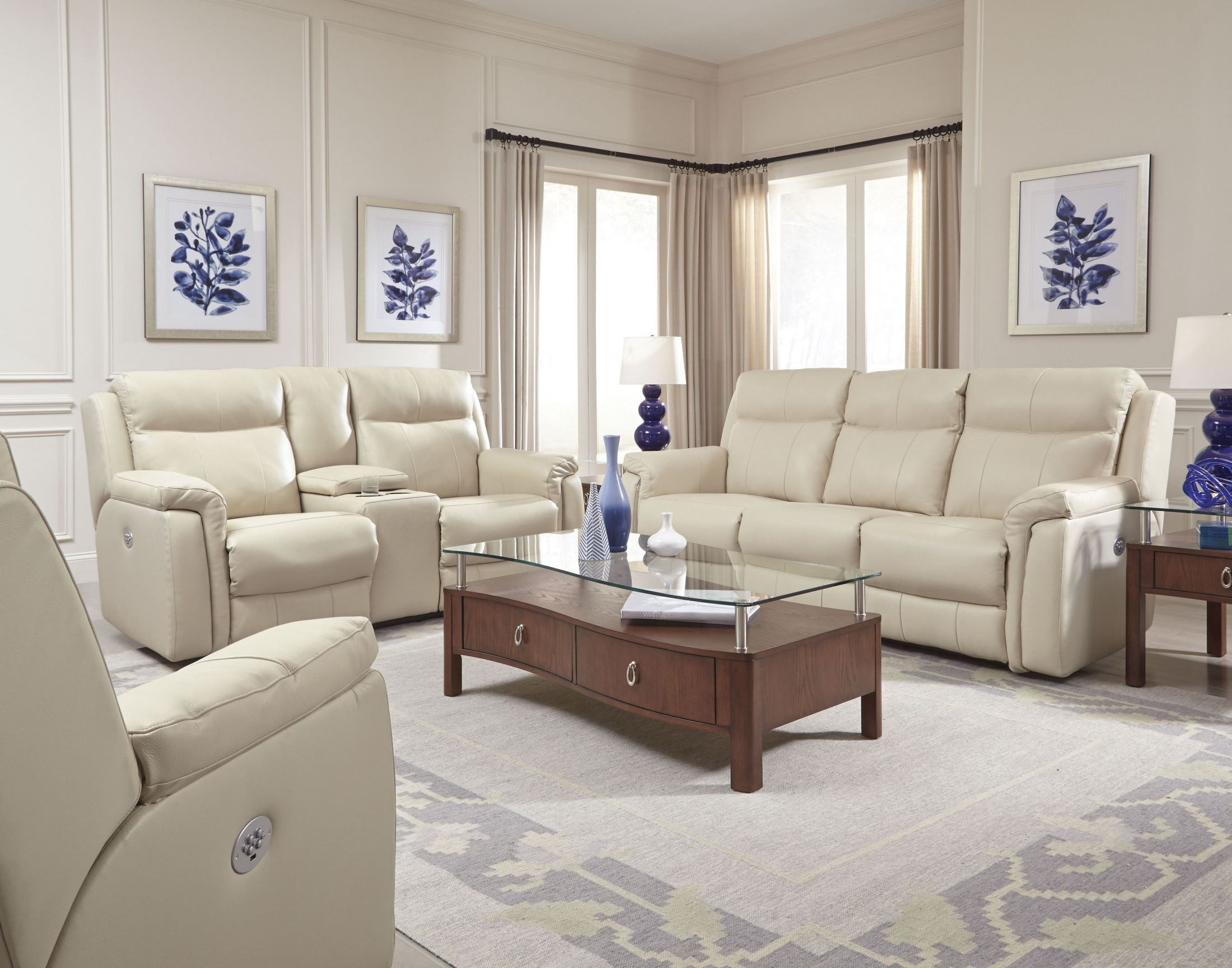 Uptown Cream Reclining Living Room Set from Southern Motion ...