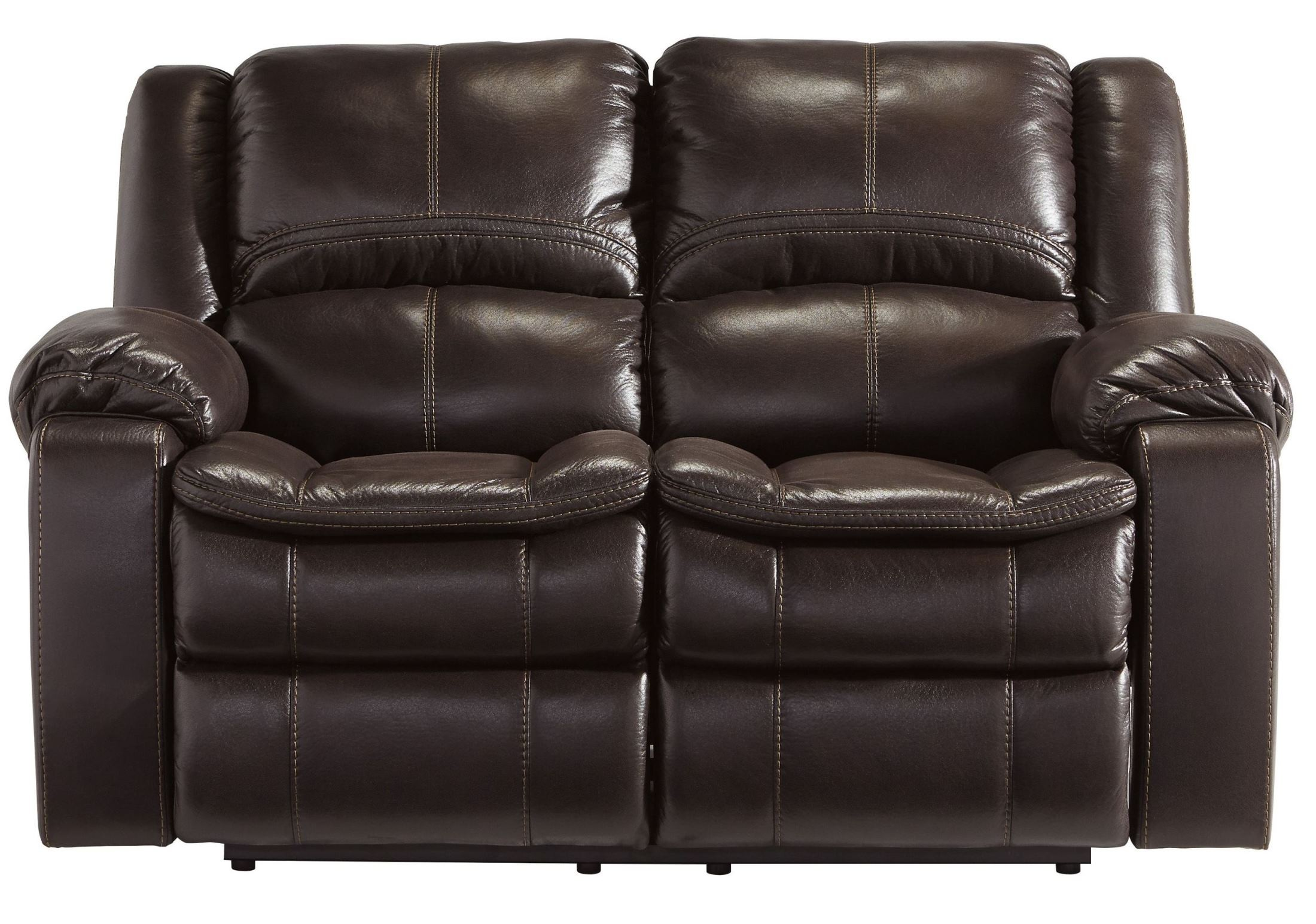 Long Knight Brown Reclining Loveseat From Ashley 8890586 Coleman Furniture
