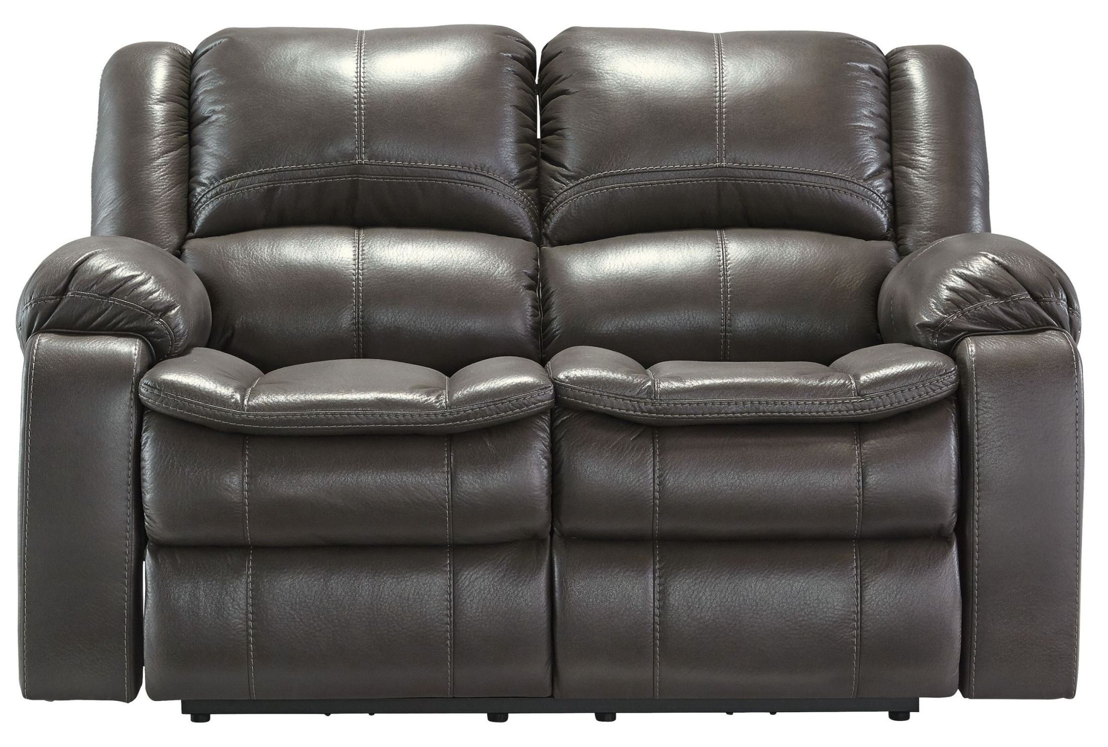 Long Knight Gray Reclining Loveseat From Ashley 8890686 Coleman Furniture