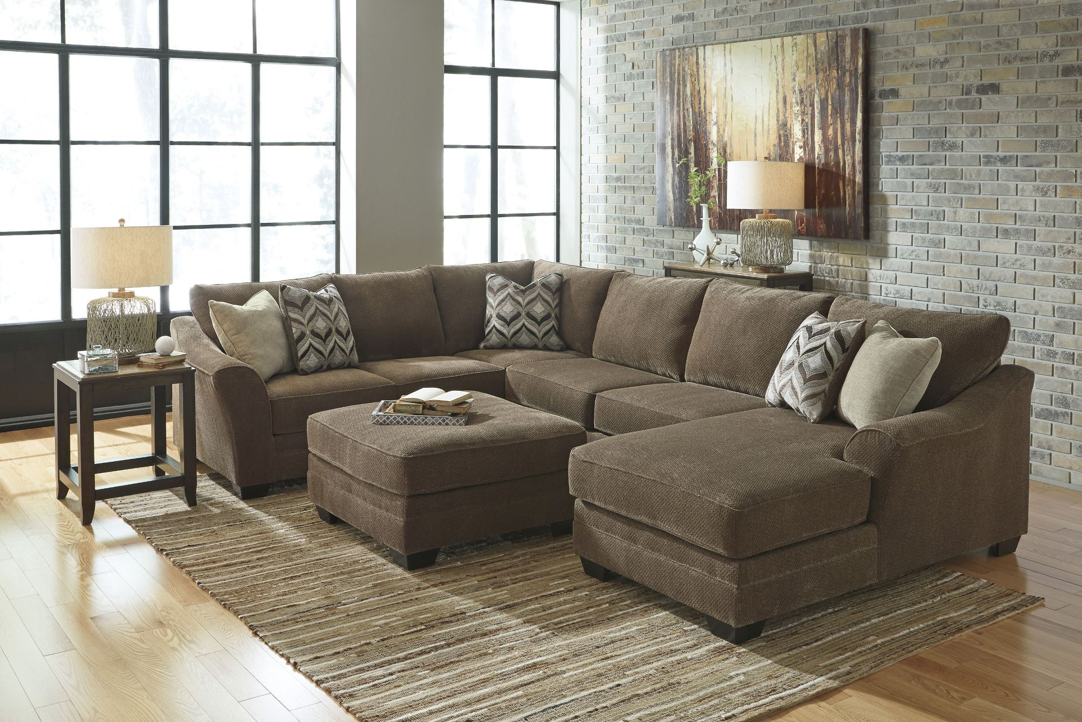 Justyna Teak Raf Sectional From Ashley 8910217 Coleman