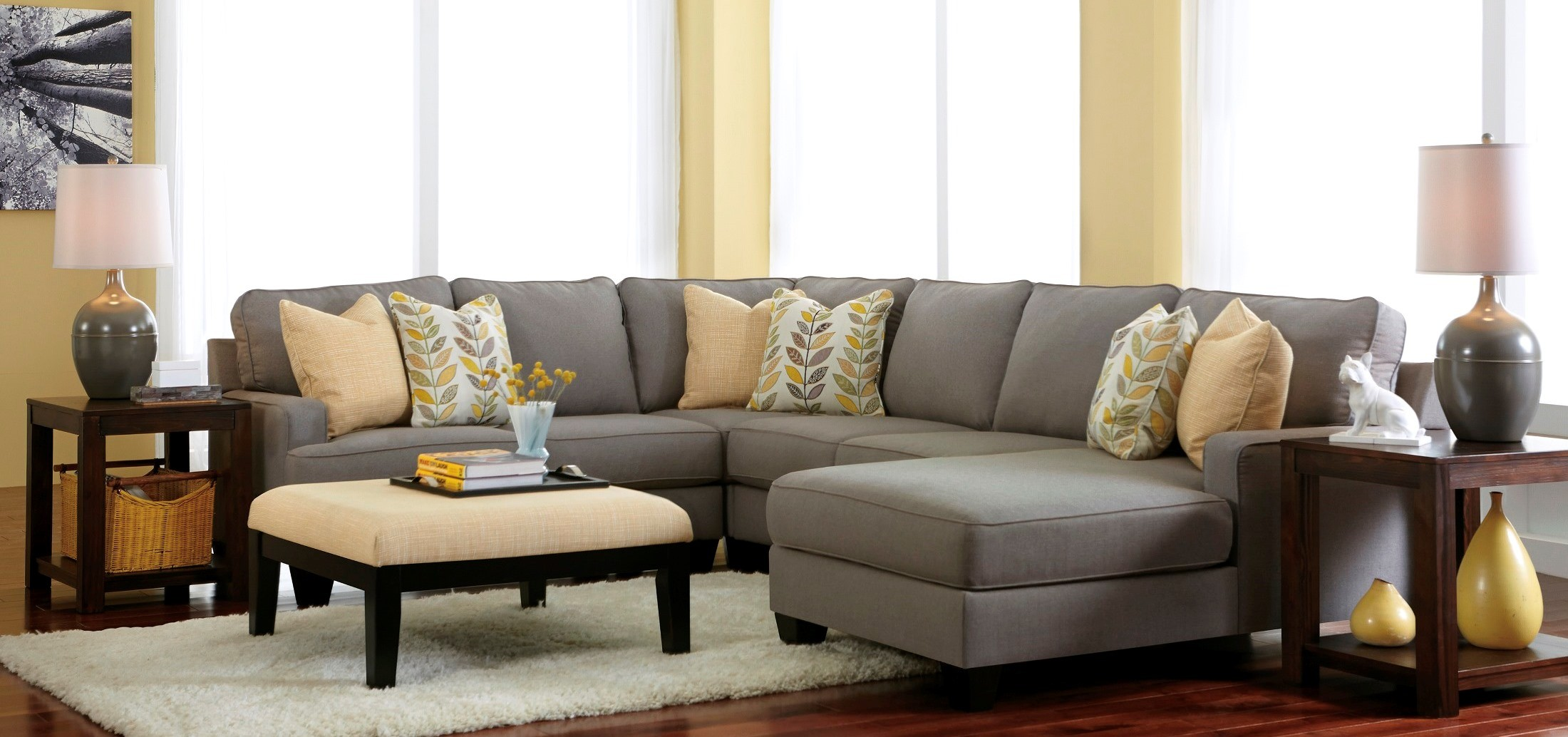 Chamberly Alloy RAF Chaise Sectional from Ashley