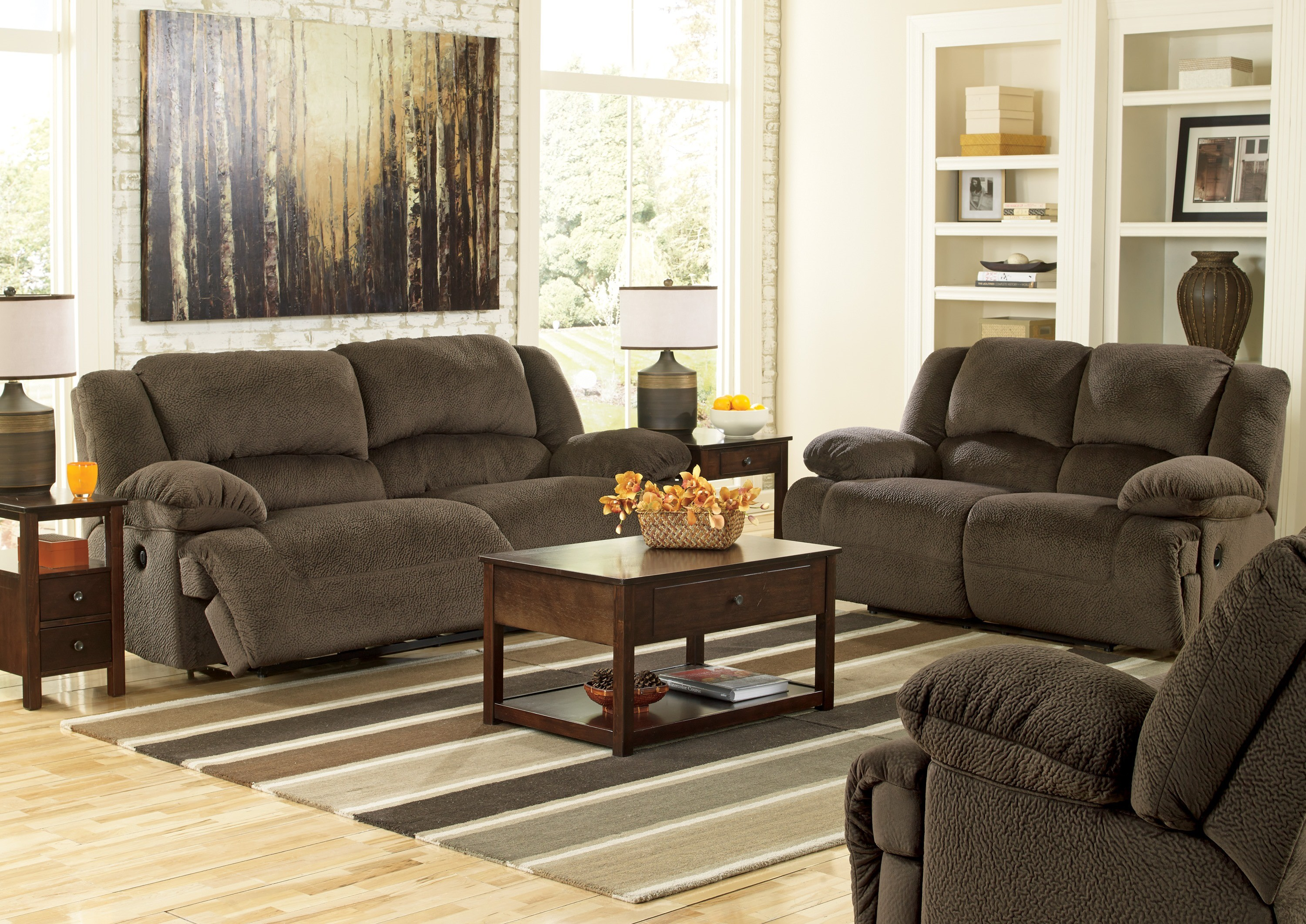 Living Room Furniture: Toletta Chocolate Living Room Set From Ashley (5670181-86