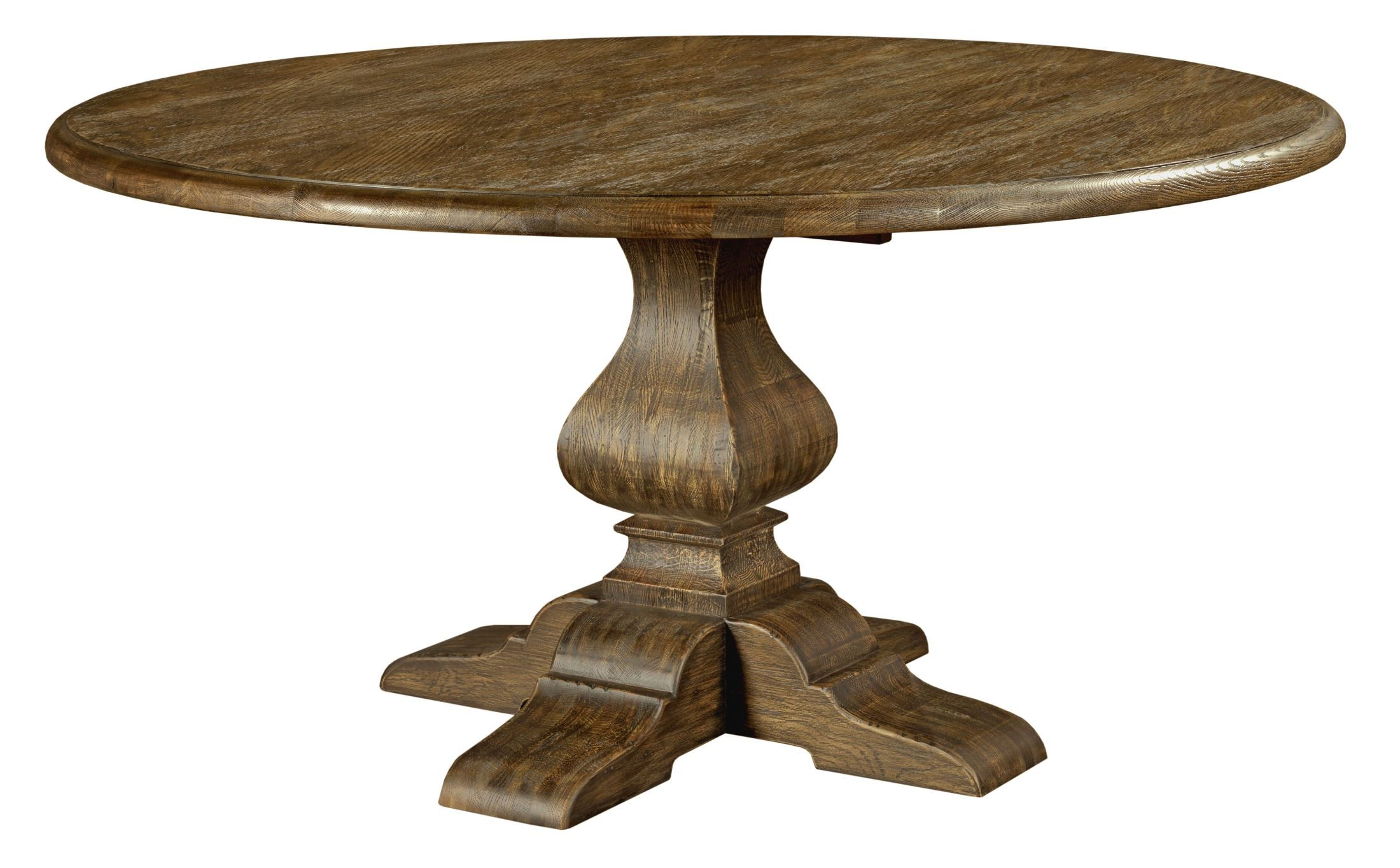 """Artisans Shoppe 60"""" Tobacco Round Dining Table With Wood"""