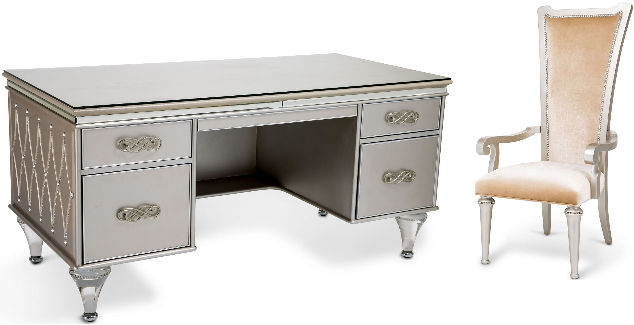 51 Bel Furniture Office Desk AICO Air Park Chair Champagne 9002244 201 TV