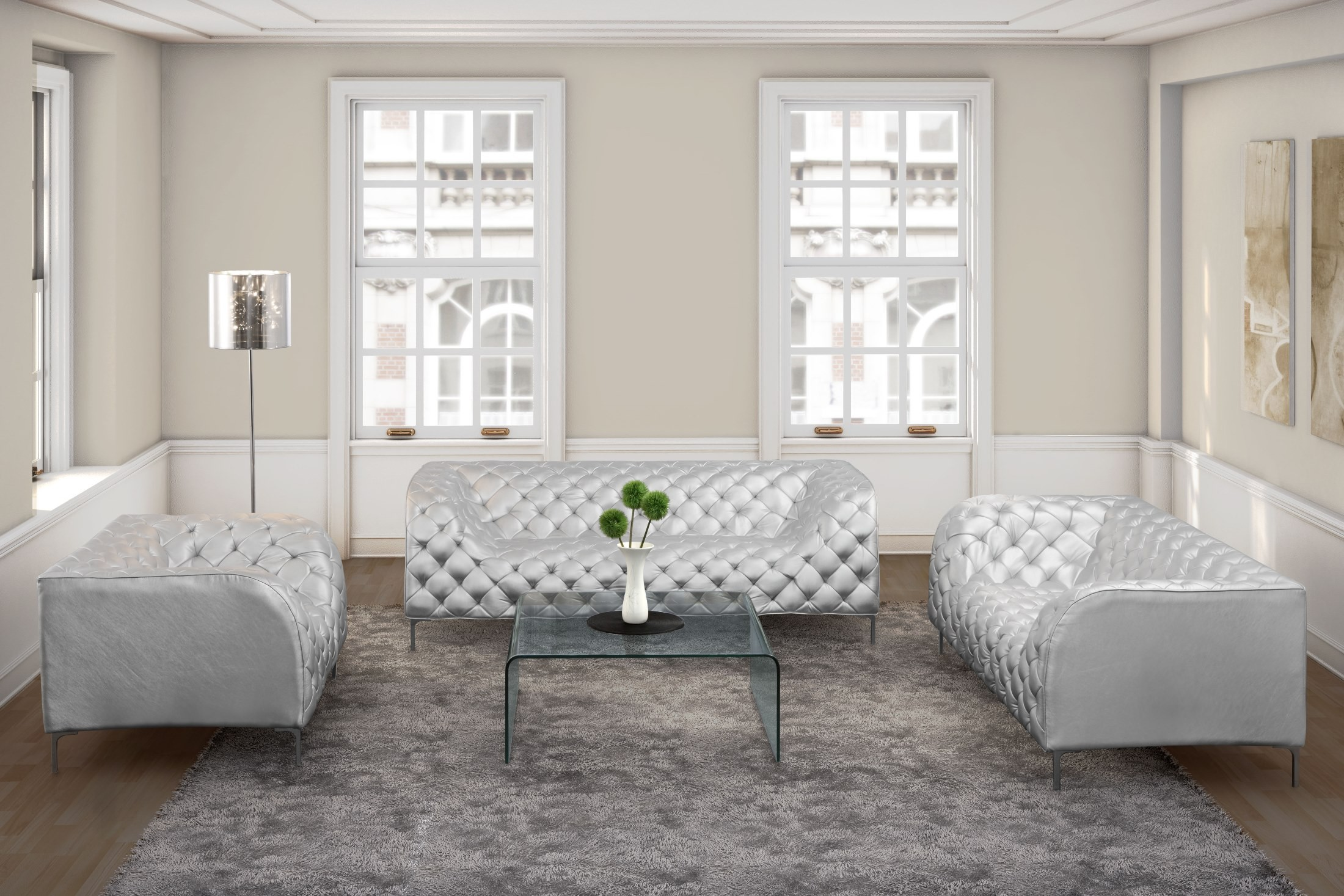 Providence Silver Living Room Set from Zuo Mod () | Coleman Furniture