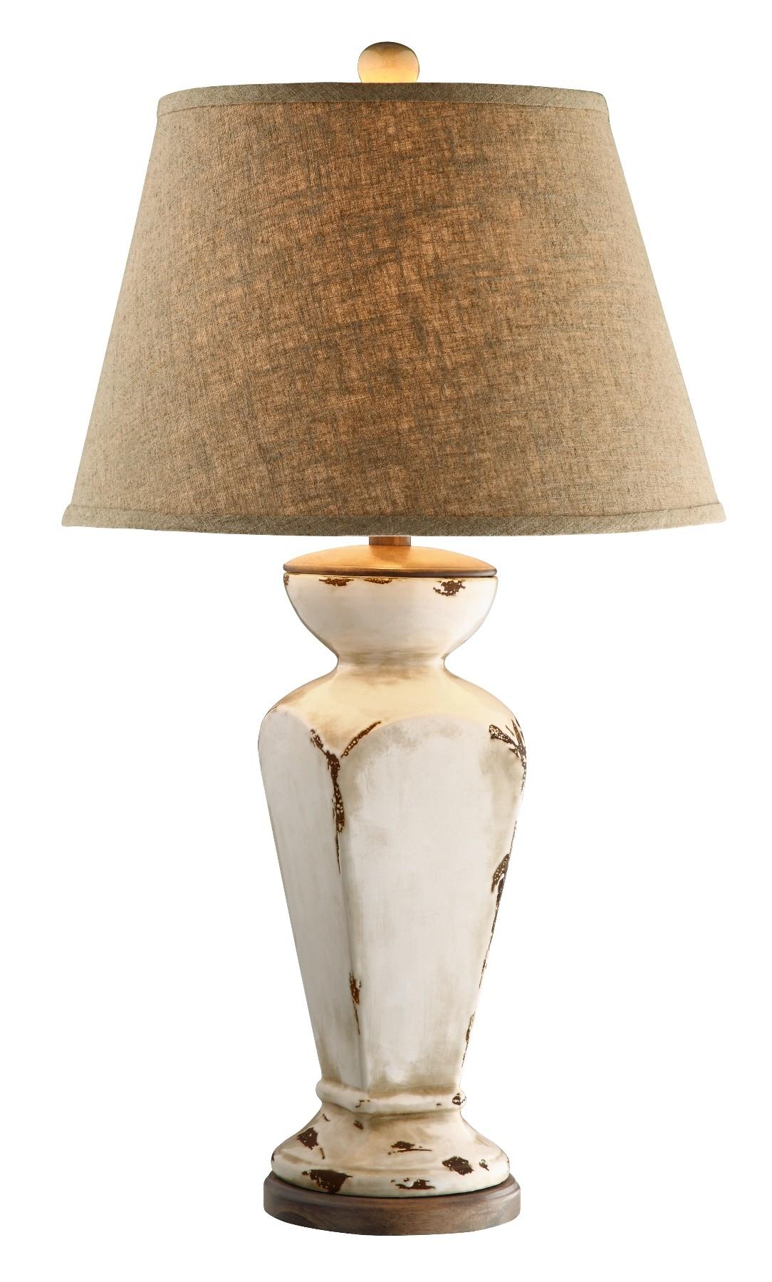 Aged Cream Ceramic Table Lamp from Steinworld (90032 ...