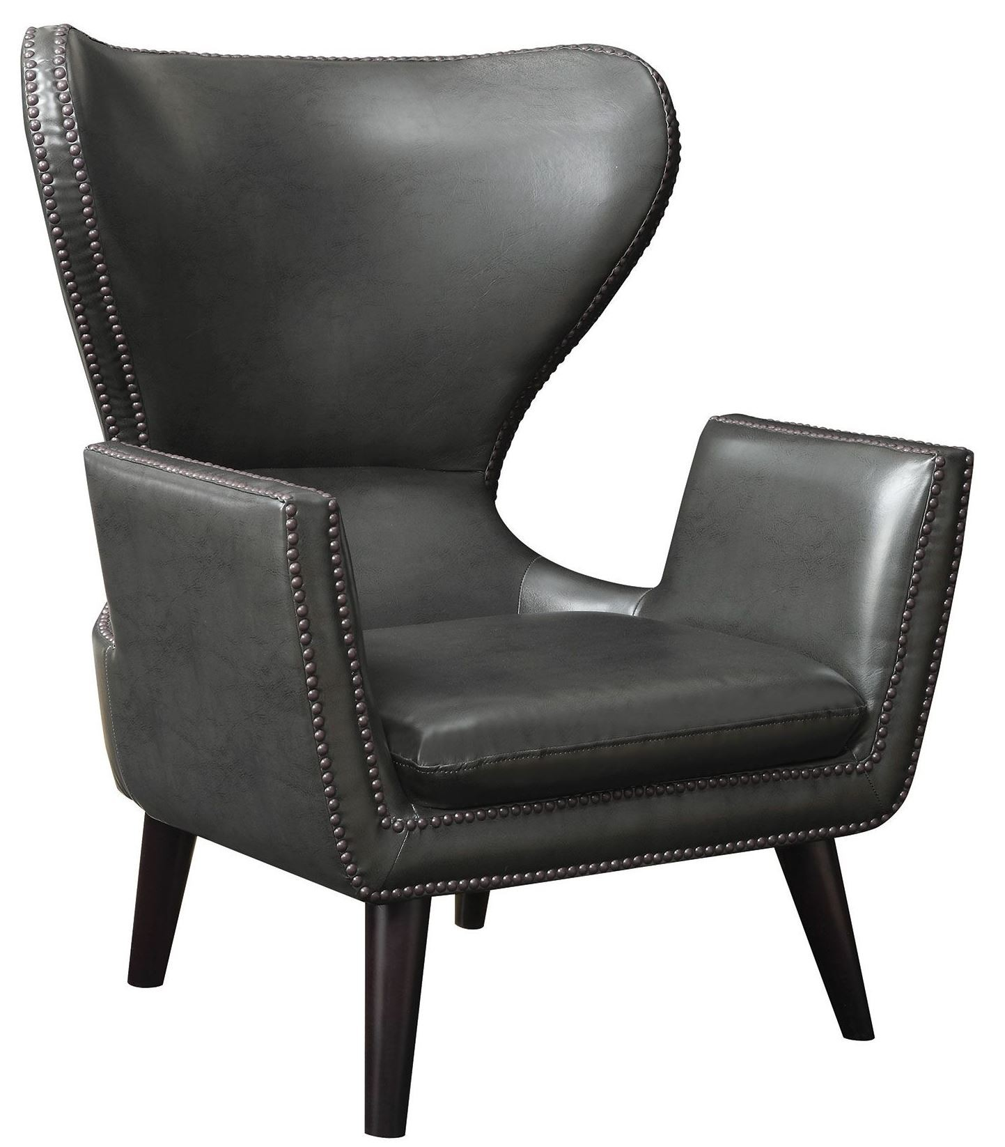 High Back Leatherette Accent Chair from Coaster (902409 ...