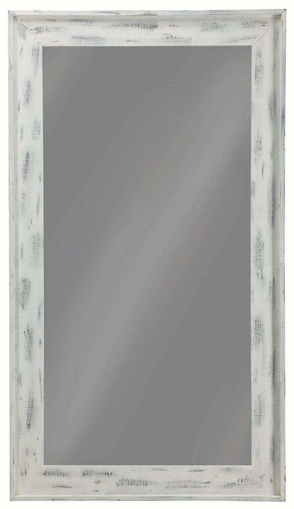 white distressed mirror 36 quot distressed white floor mirror from coaster coleman 1024