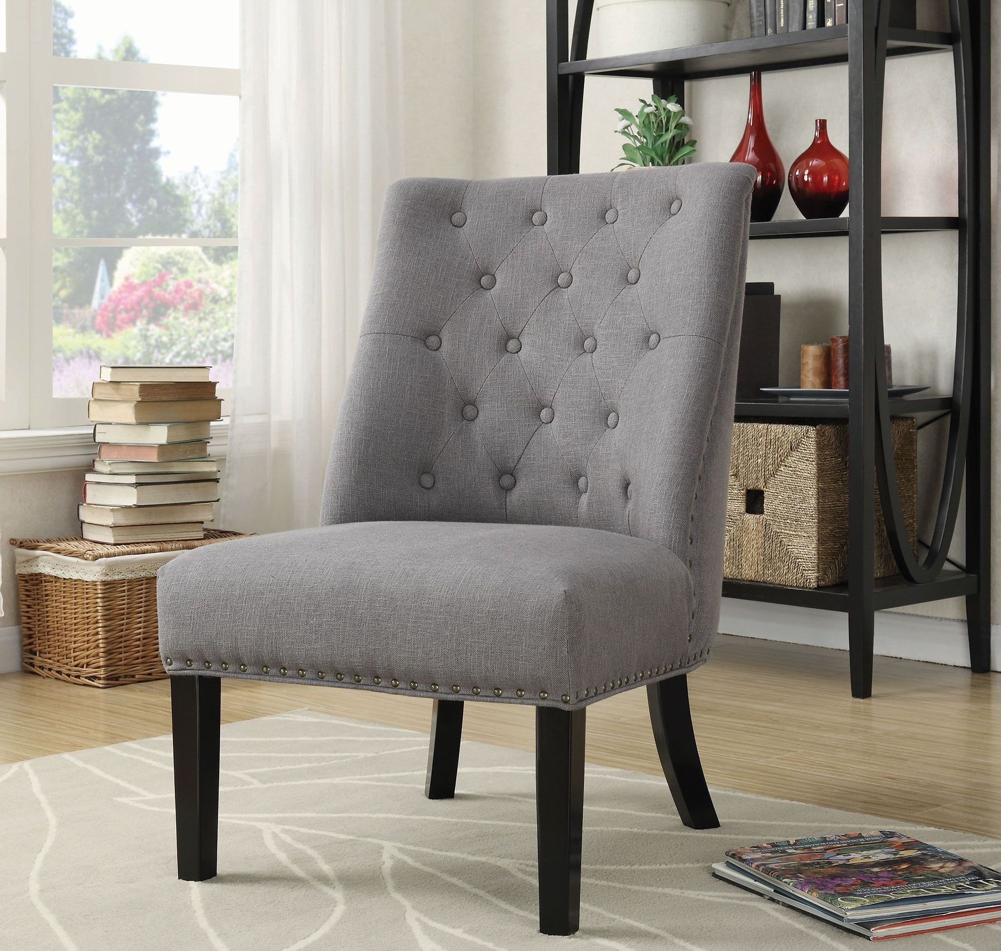 902923 Grey And Black Accent Chair From Coaster Coleman