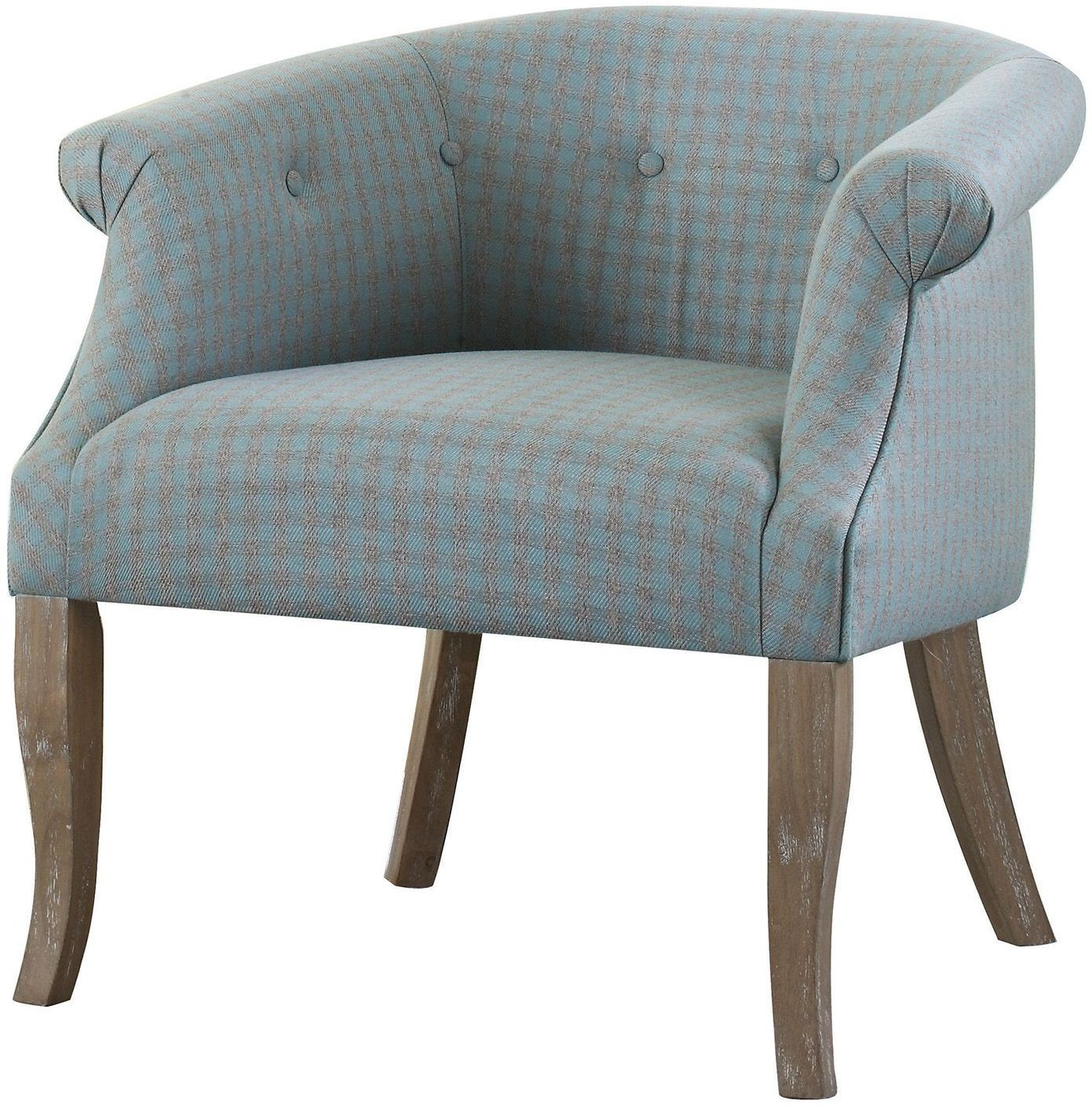 Light Blue And Gray Accent Chair From Coaster