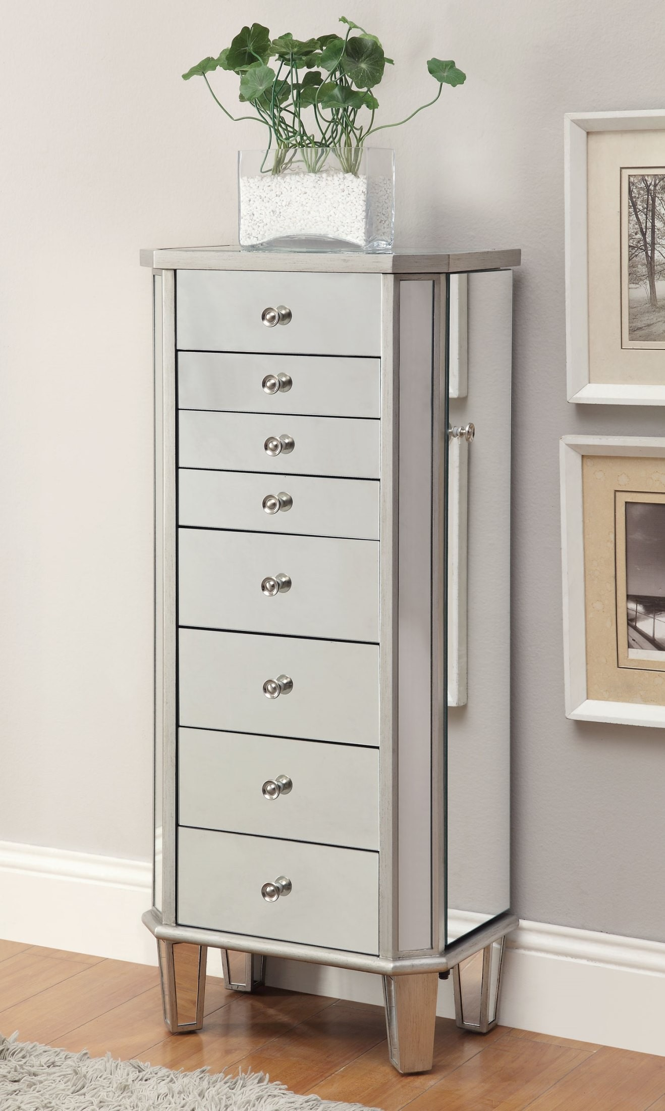 903808 Antique Silver Jewelry Armoire from Coaster (903808