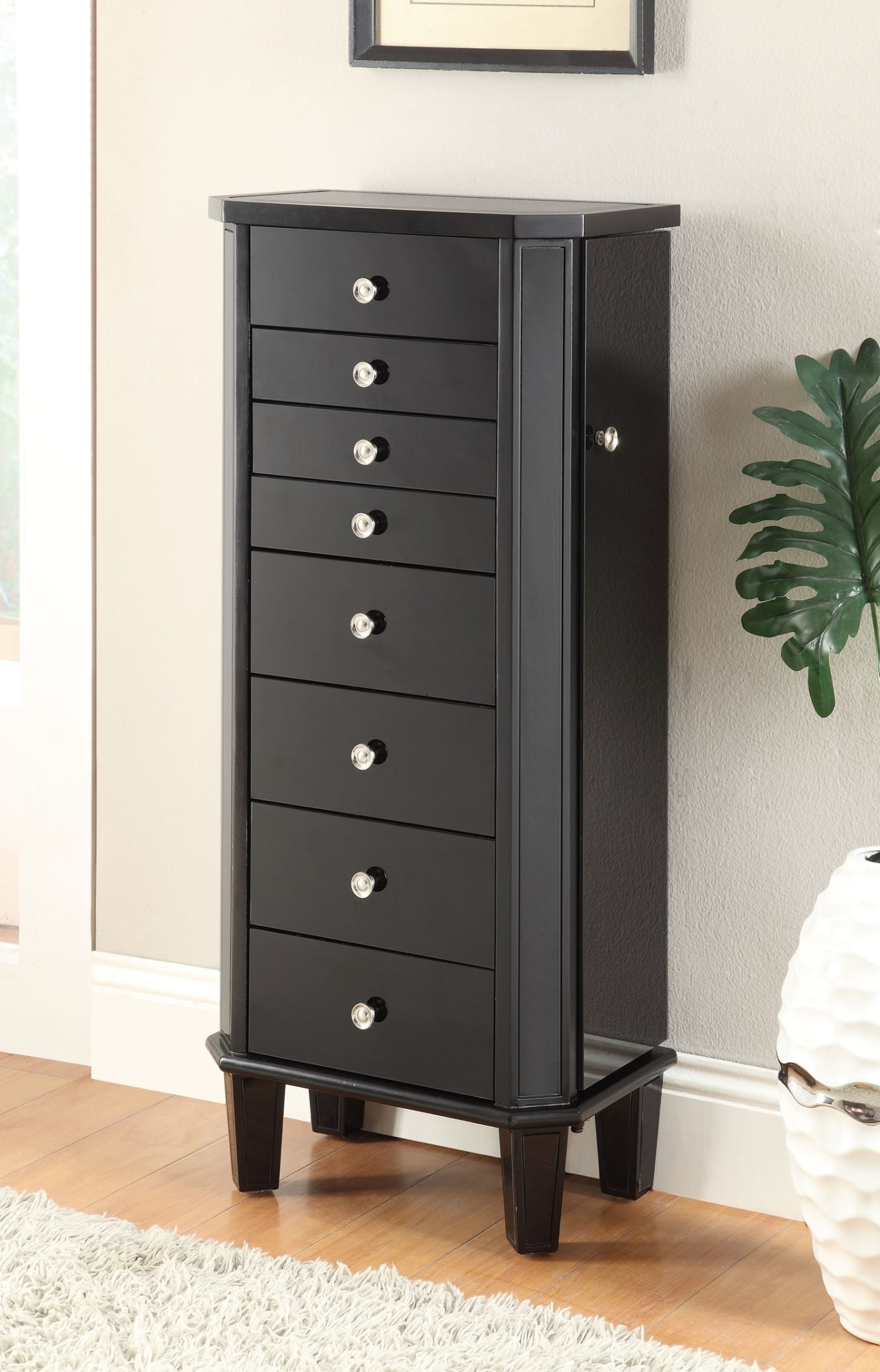 Black Jewelry Armoire, 903809, Coaster Furniture