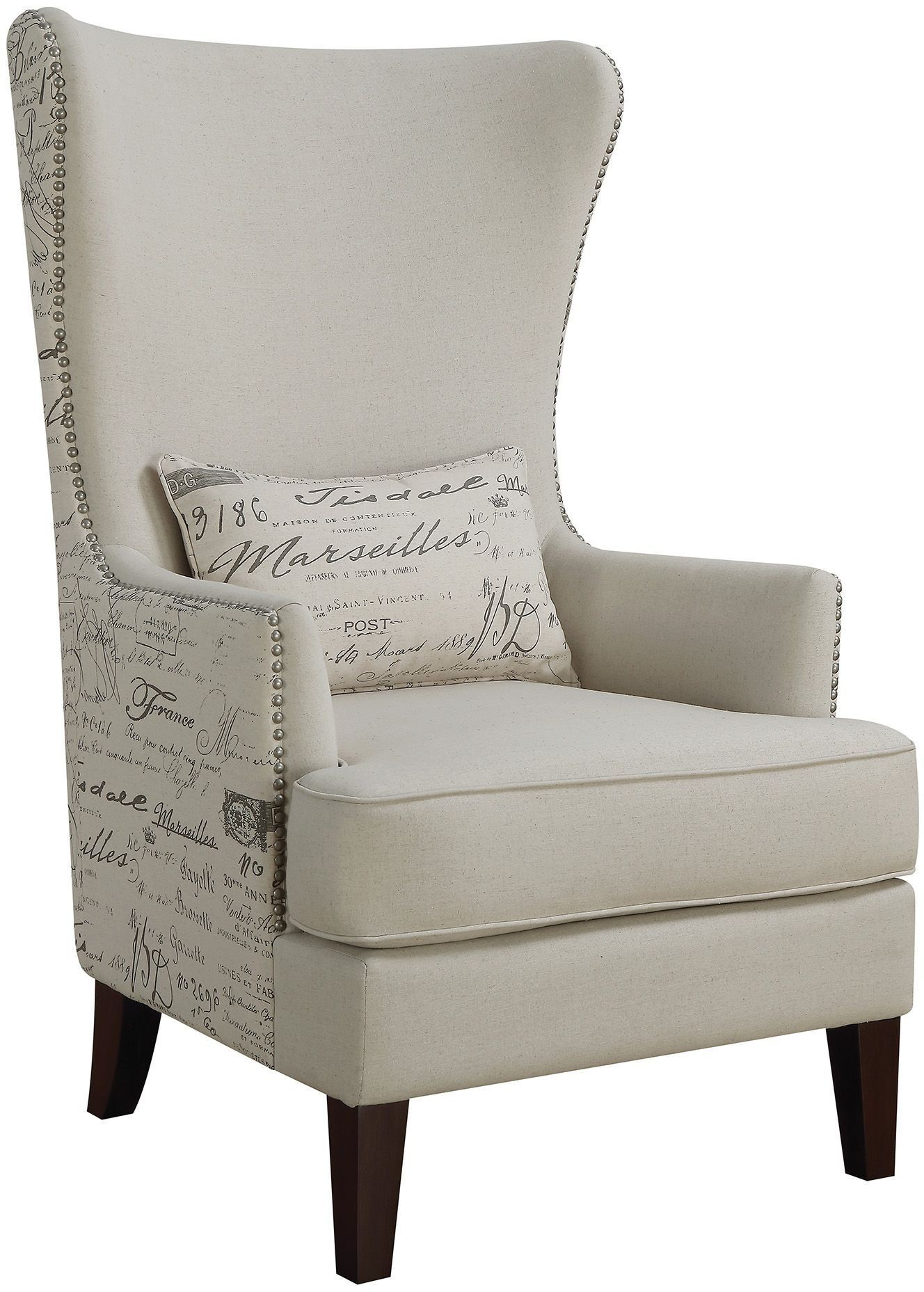 Cream Accent Chair From Coaster Coleman Furniture