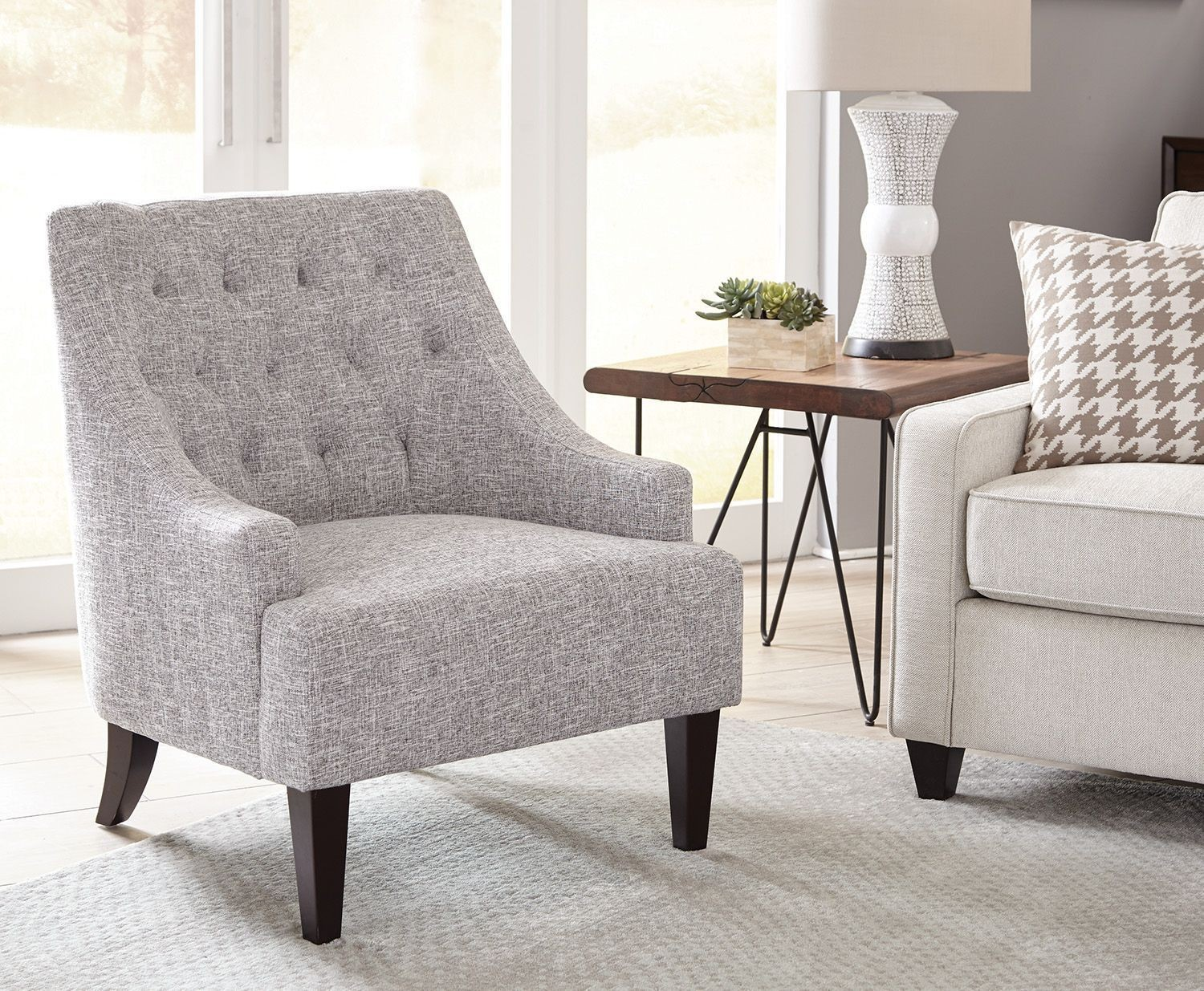 Gray And Brown Accent Chair By Scott Living From Coaster