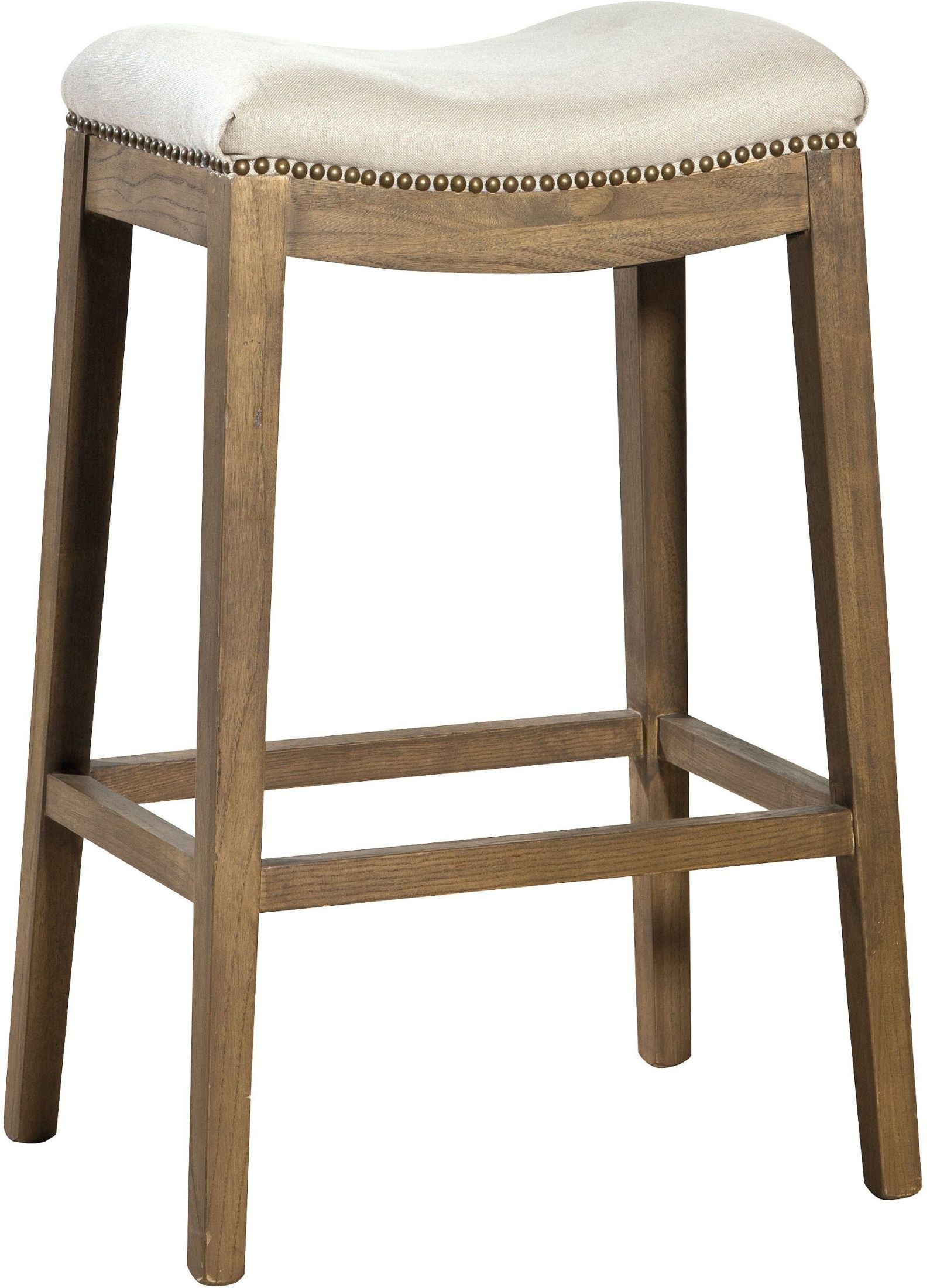 Beige Linen Backless Bar Stool Set Of 2 From Furniture