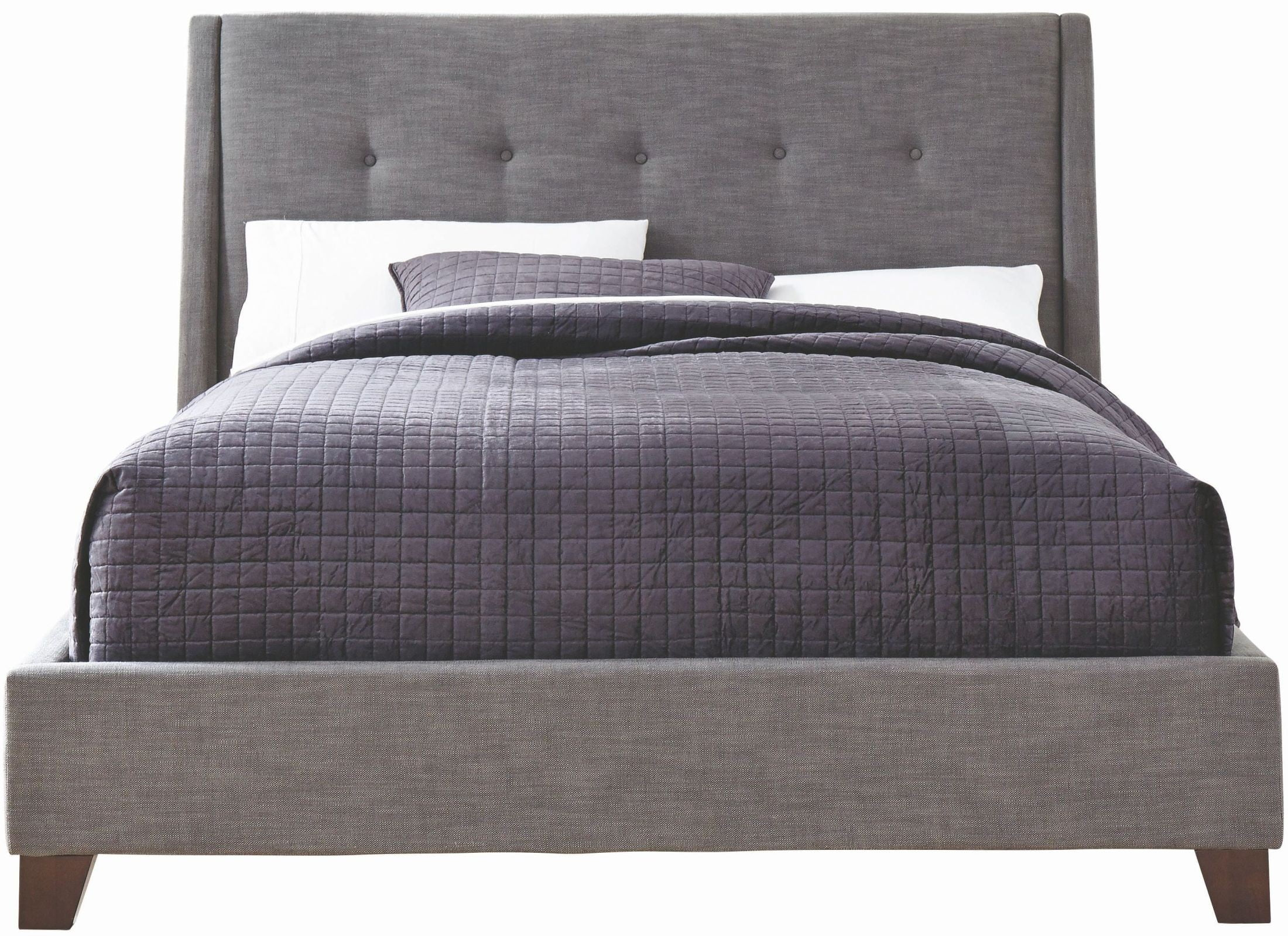 ballard dark gray queen upholstered bed from casana | coleman furniture