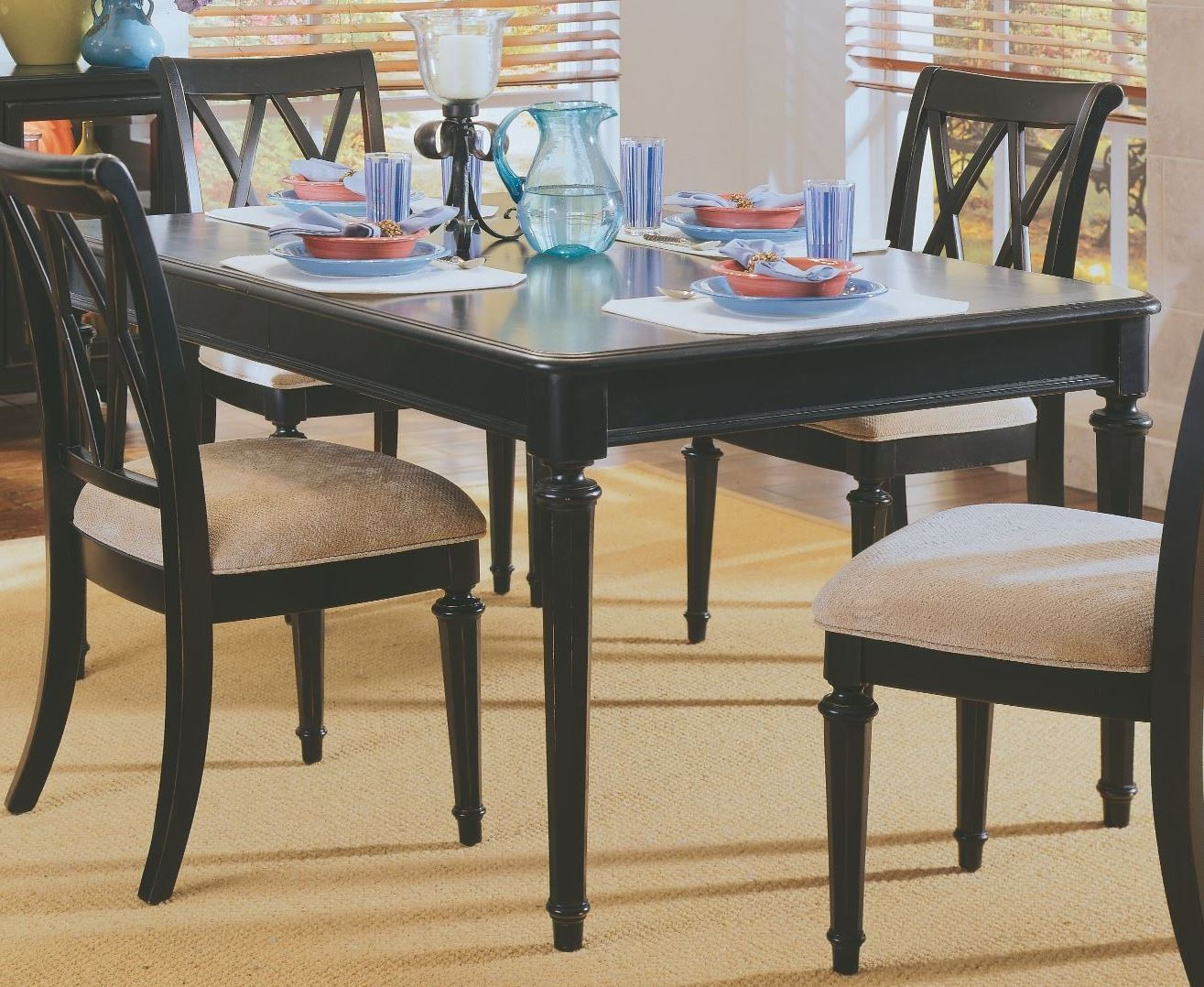 camden black extendable leg dining table from american drew 919 760n coleman furniture. Black Bedroom Furniture Sets. Home Design Ideas