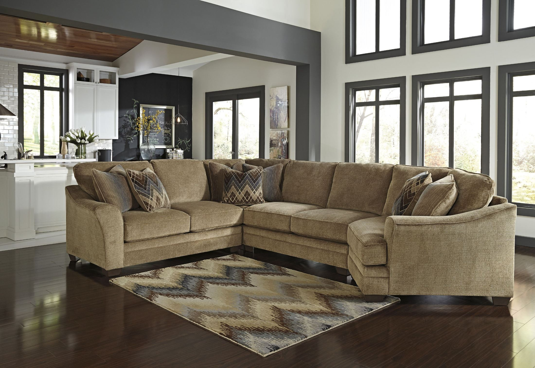 Lonsdale RAF Cuddler Sectional From Ashley - Ashley furniture tampa