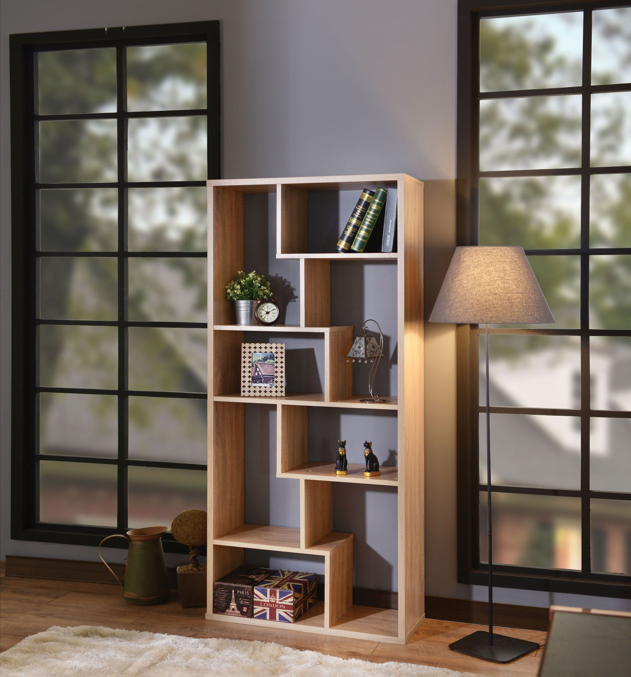 the from pin solid bookshelf furniture range bookcase by tall galway land natural oak