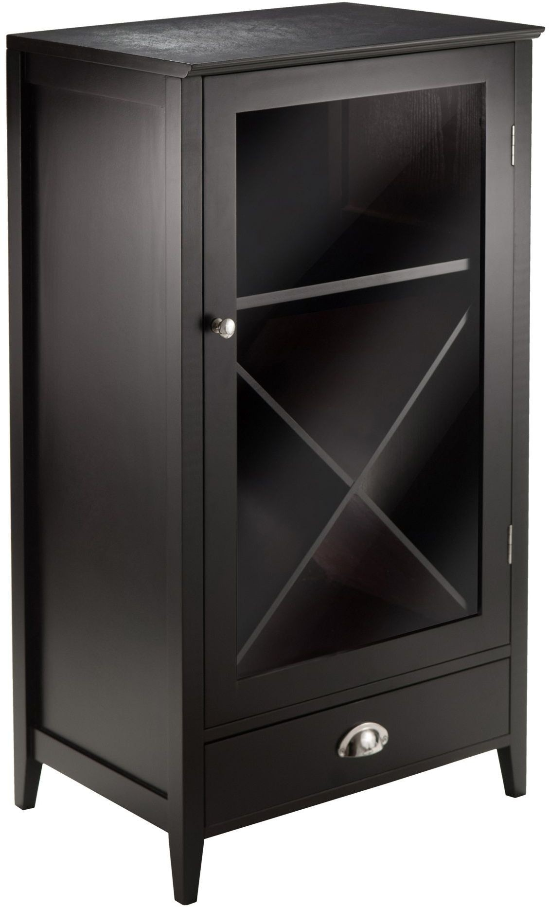 bordeaux espresso modular x wine cabinet from winsomewood coleman furniture. Black Bedroom Furniture Sets. Home Design Ideas