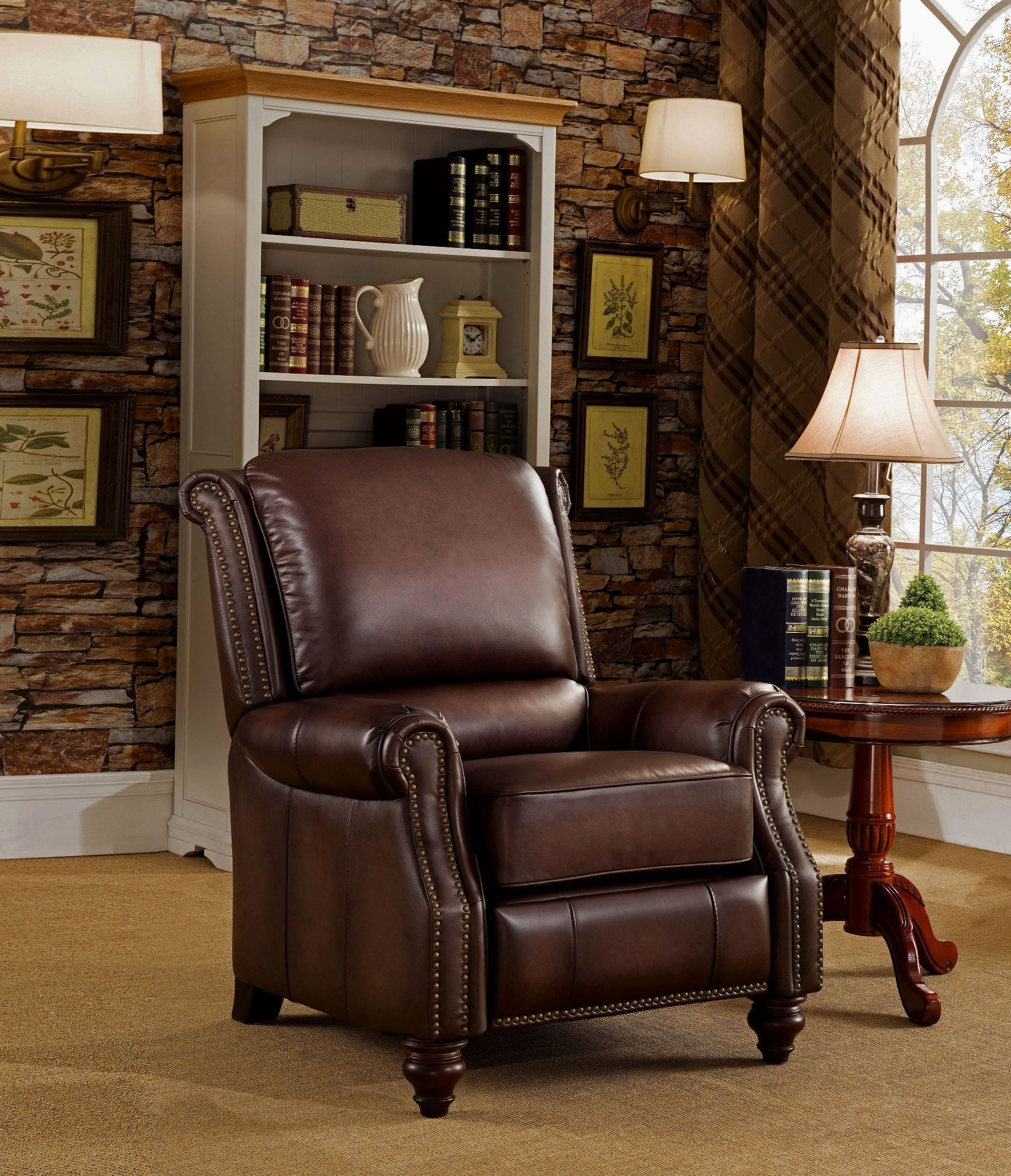 Churchill Brown Leather Recliner Chair C9252rc5851ls