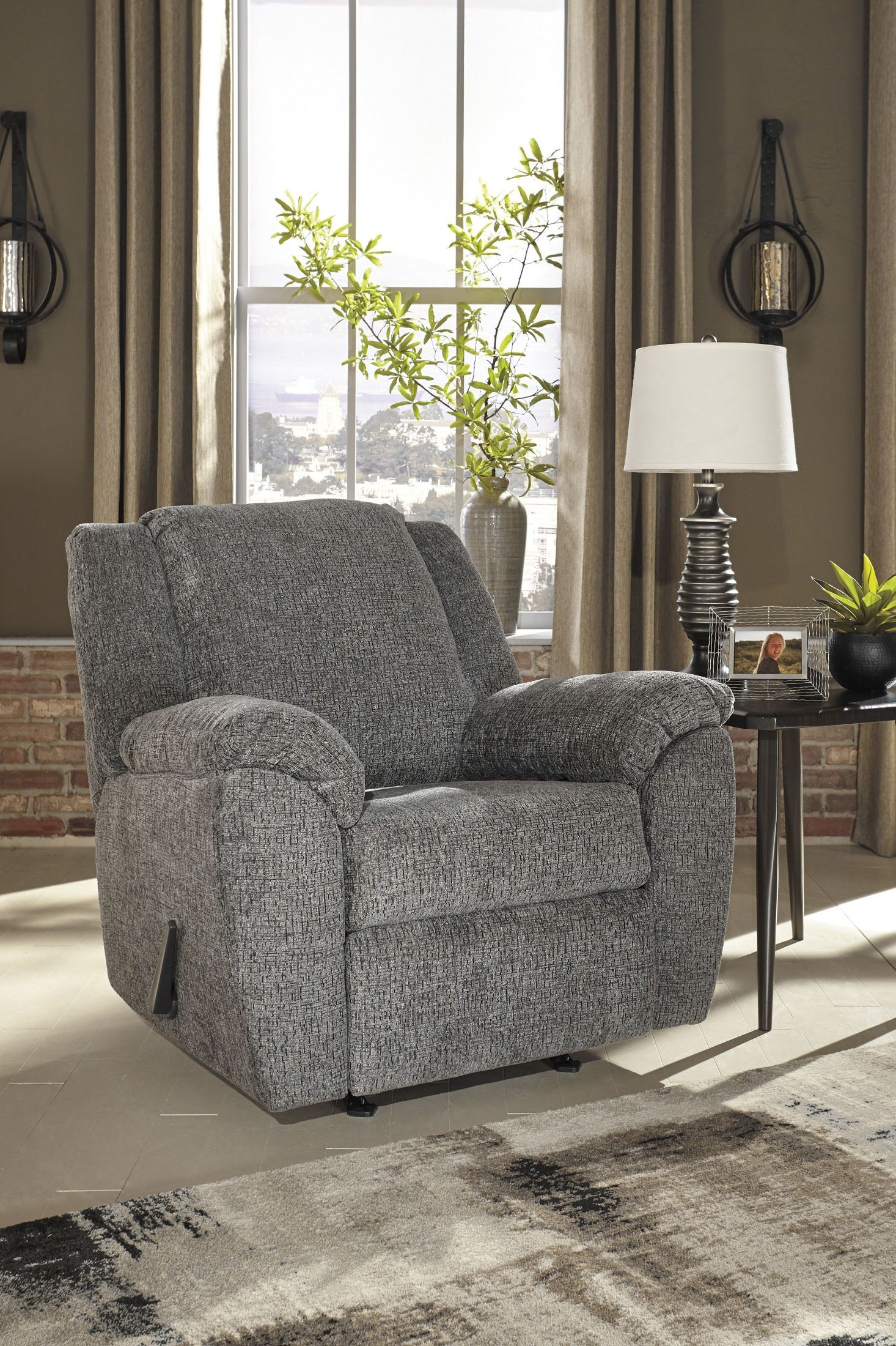 Azaline Slate Rocker Recliner From Ashley Coleman Furniture