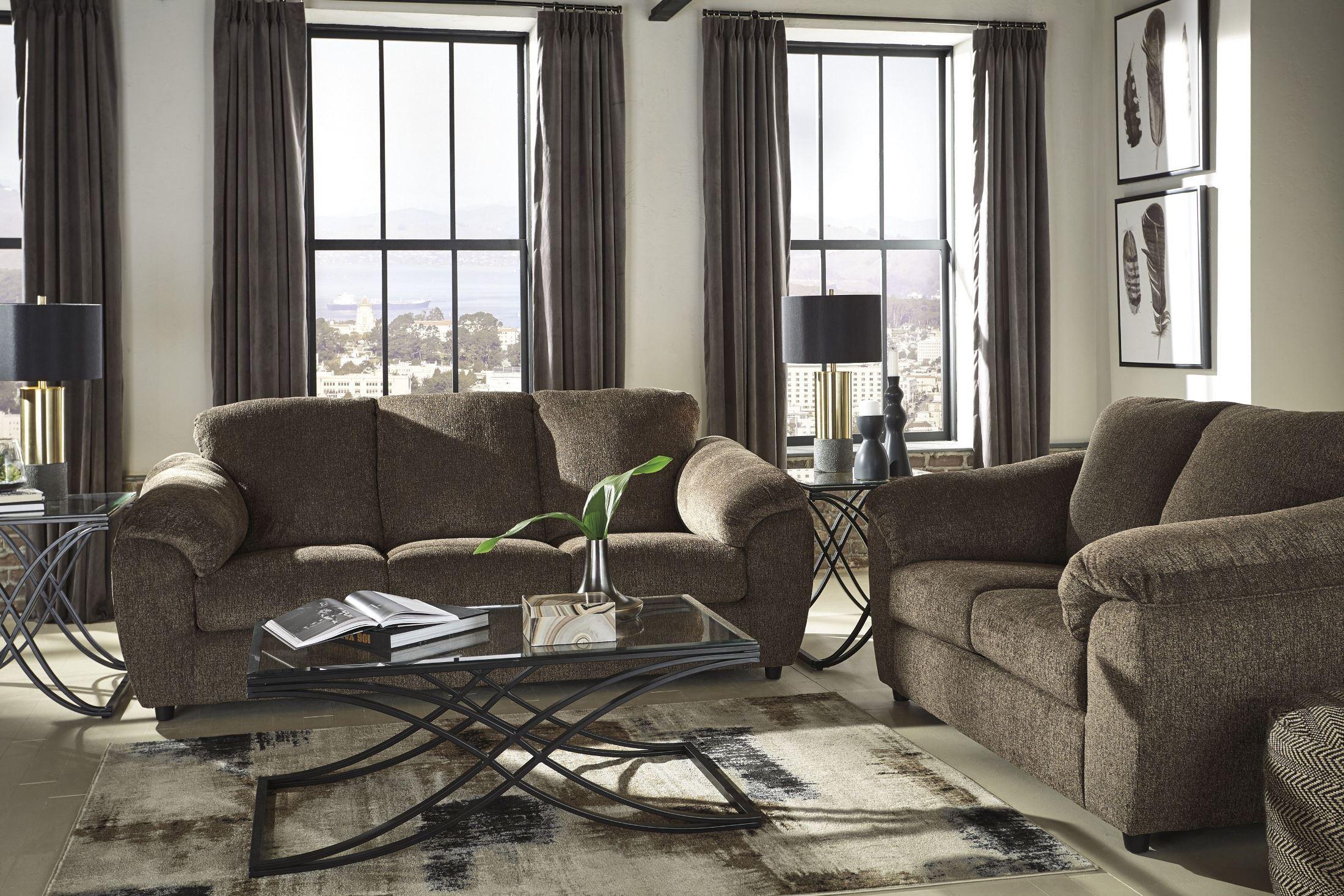 azaline umber living room set from ashley coleman furniture. Black Bedroom Furniture Sets. Home Design Ideas