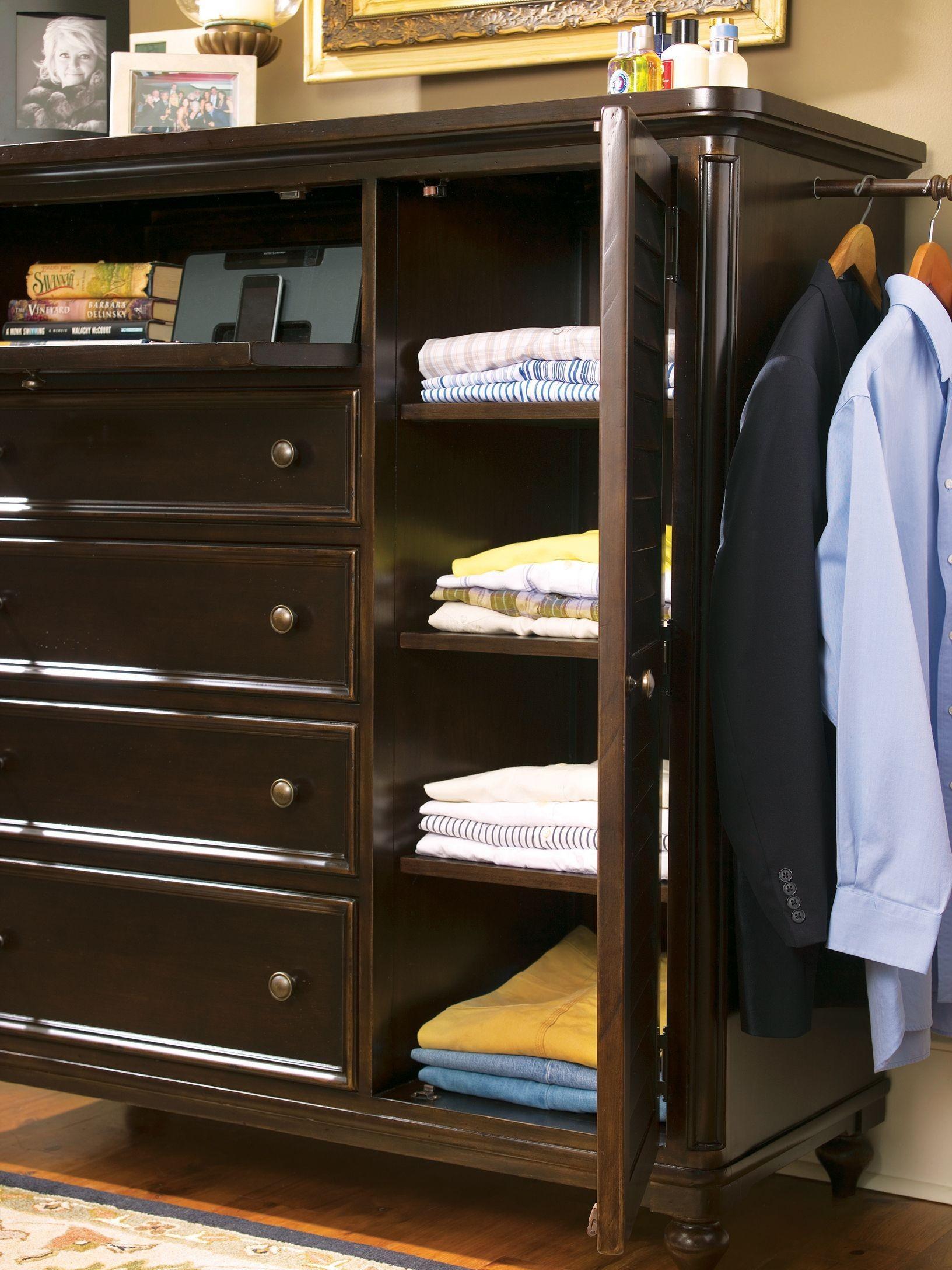 Paula deen home tobacco 4 drawer door chest from paula - Paula deen tobacco bedroom furniture ...
