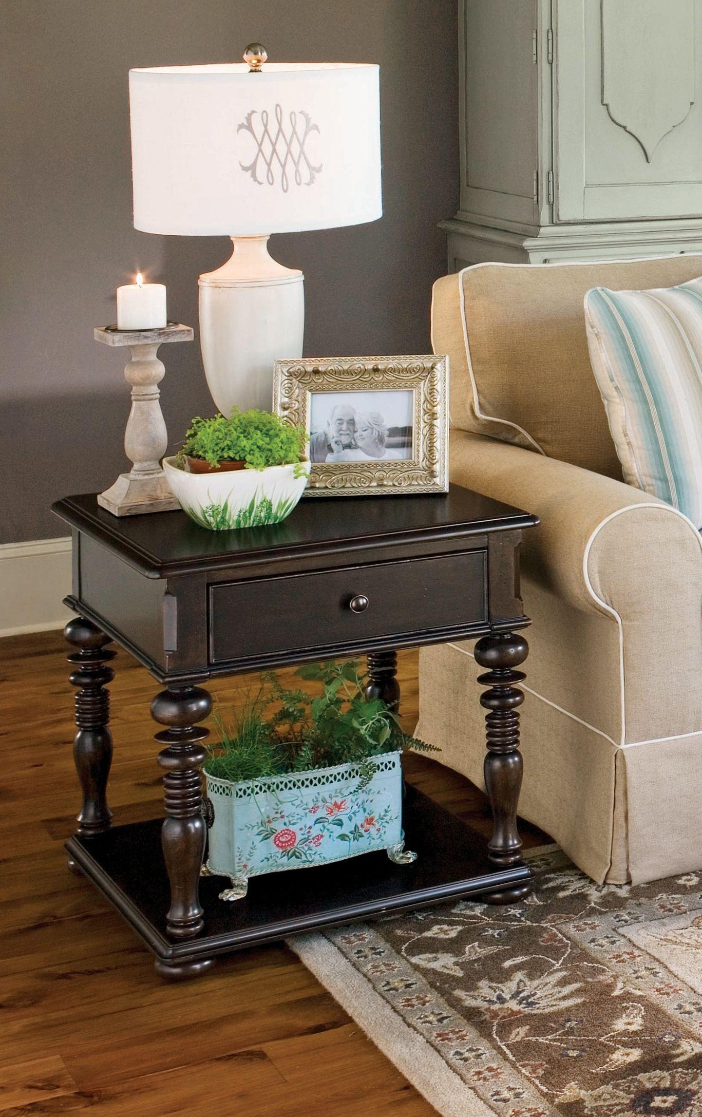 Paula Deen Home Tobacco Rectangular End Table From Paula Deen 932802 Coleman Furniture