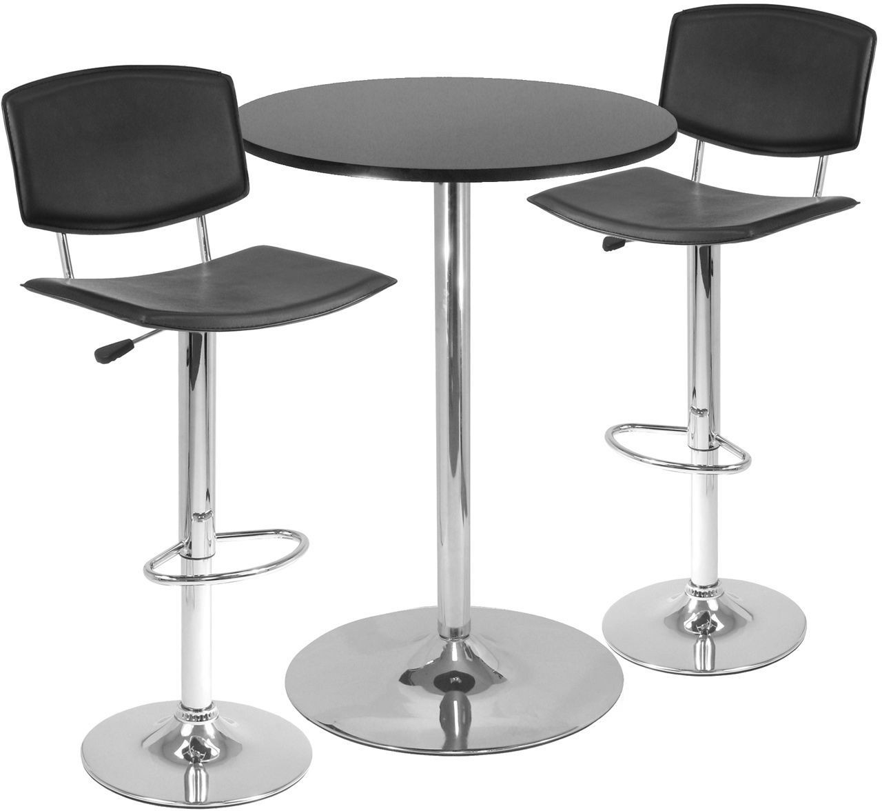 Spectrum Black Curved Seat Air Lift Stool Set Of 2 From