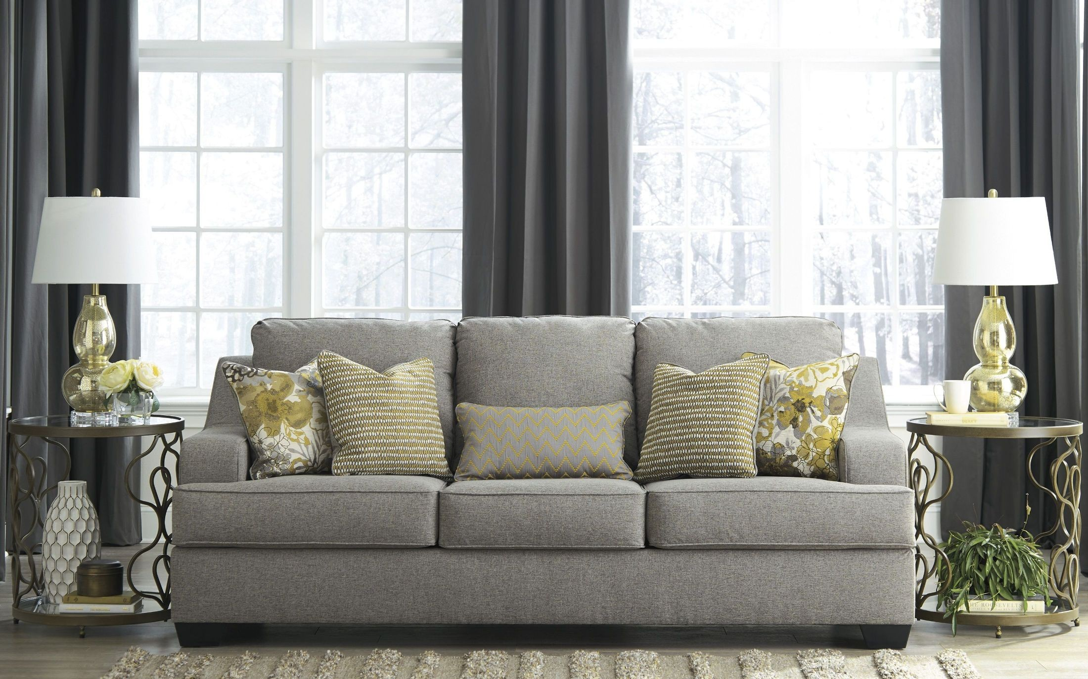 Mandee Pewter Sofa From Ashley Coleman Furniture