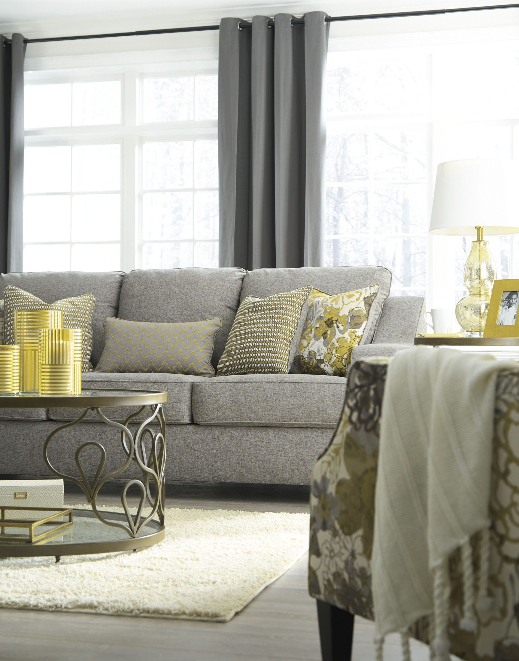 Mandee Pewter Accent Chair from Ashley
