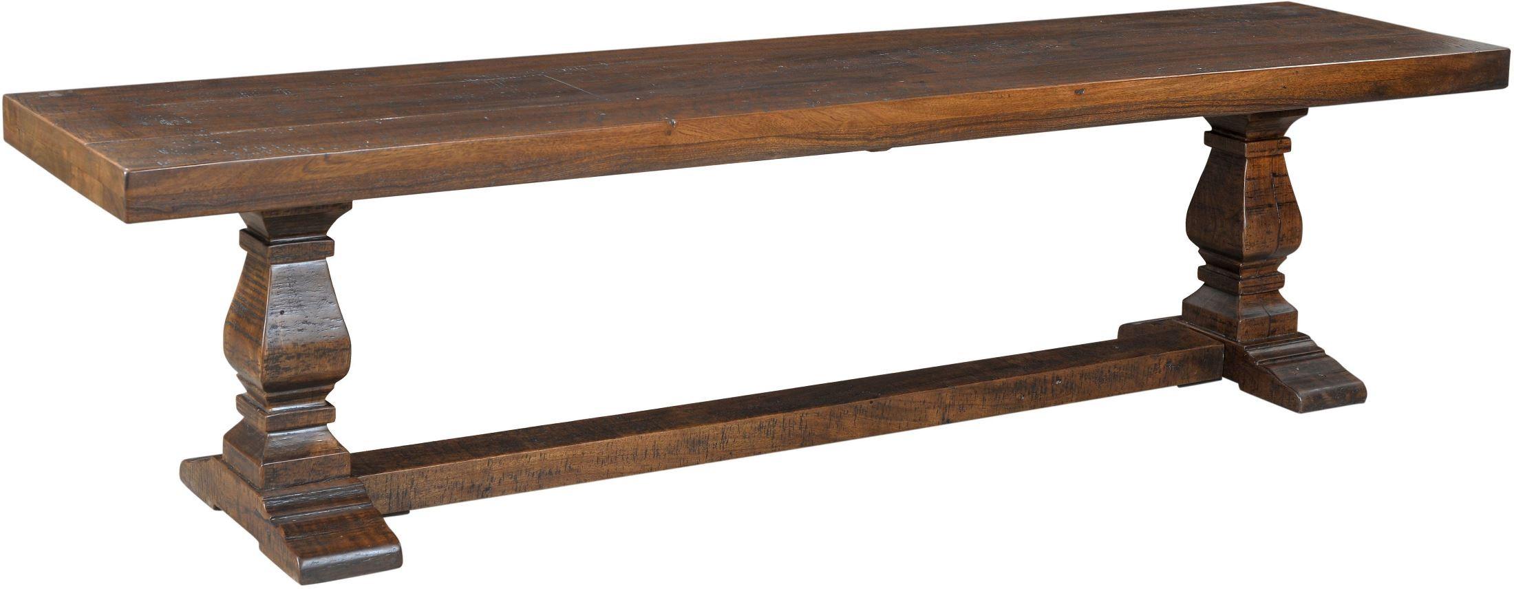 X. Woodbridge Distressed Brown Dining Bench