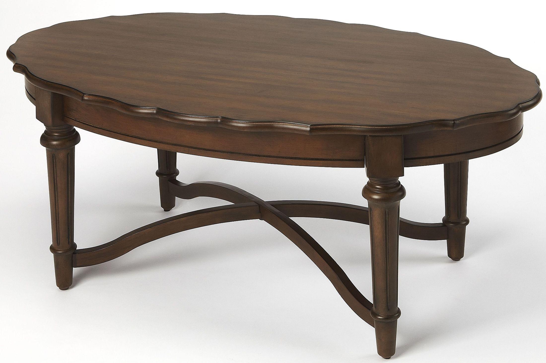 X. Kendrick Dark Brown Coffee Table. By Butler
