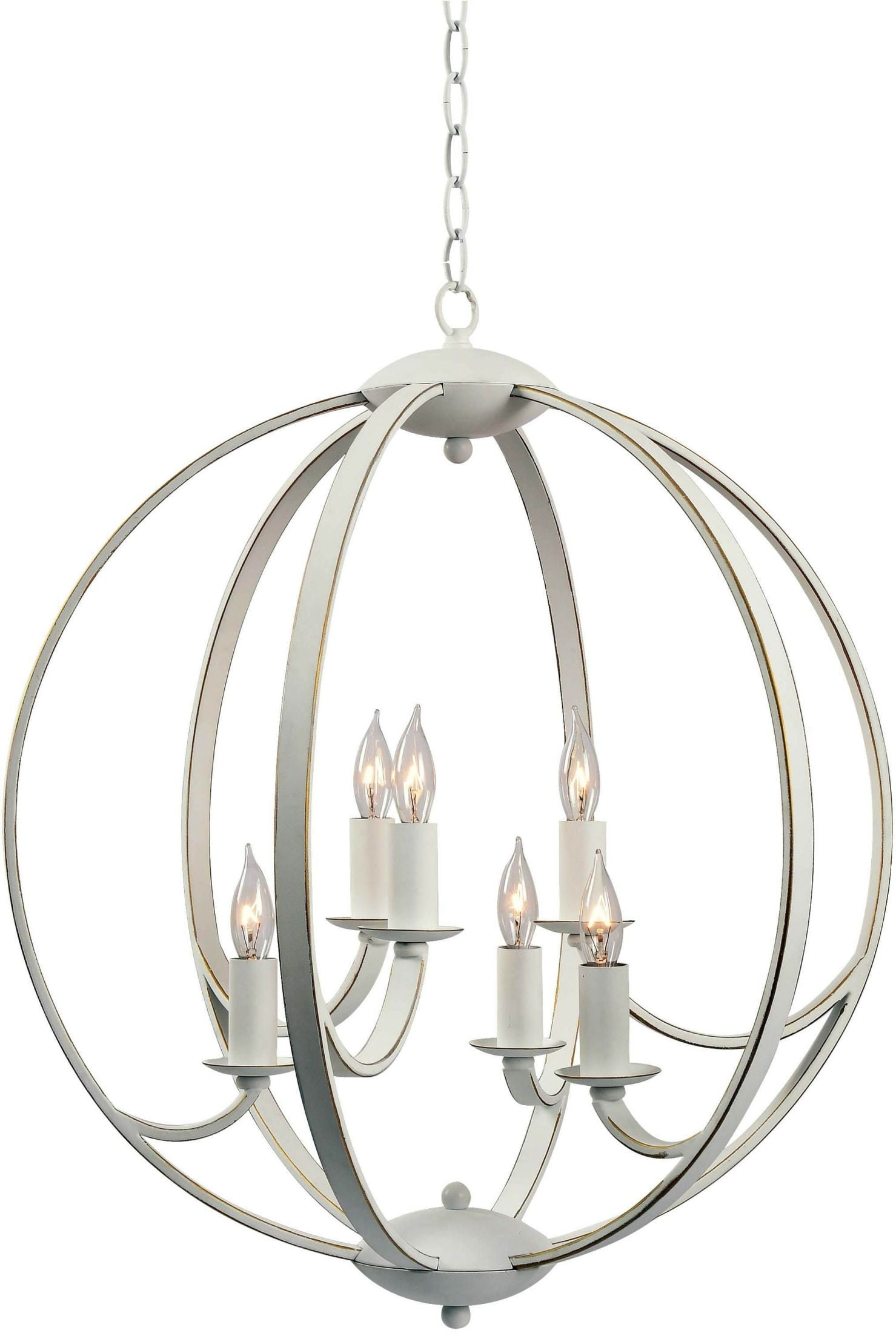 Opal Weathered 6 Light Chandelier From Kenroy Coleman