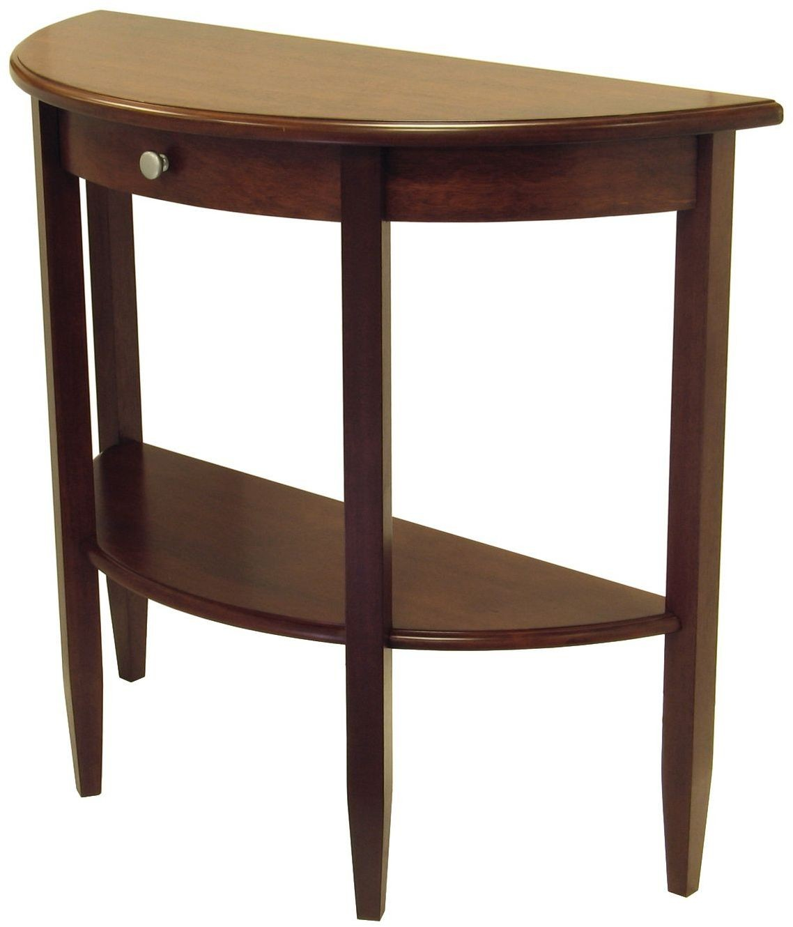 5 Console Table ~ Concord half moon drawer hall console table from
