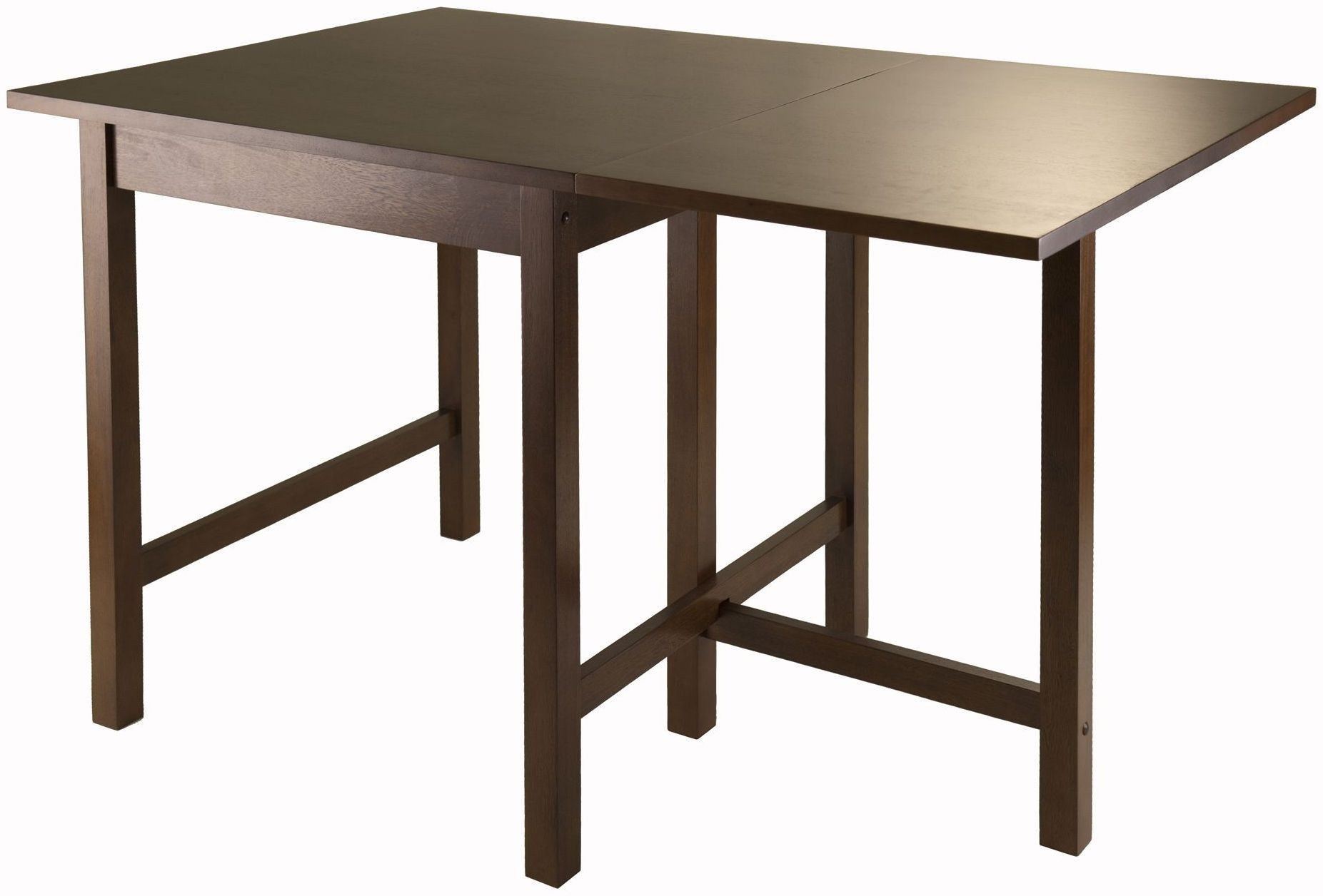 Drop Leaf Table Dining: Lynden Walnut Drop Leaf Extendable Dining Table From