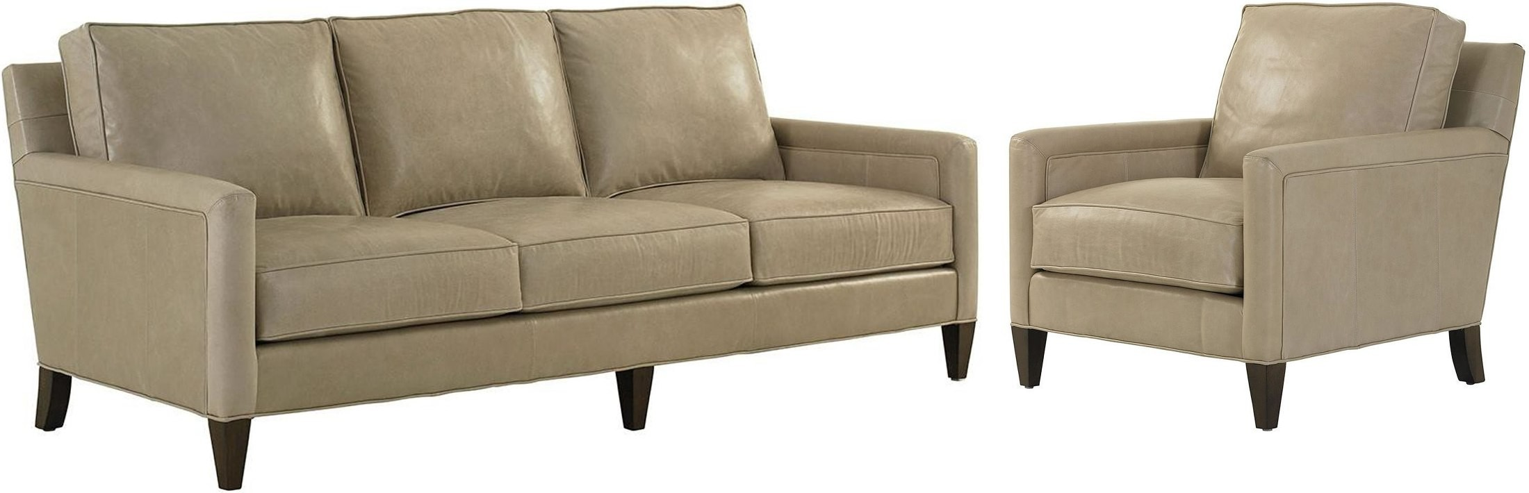 Macarthur Park Foxboro Gray Leather Living Room Set From Lexington Coleman Furniture