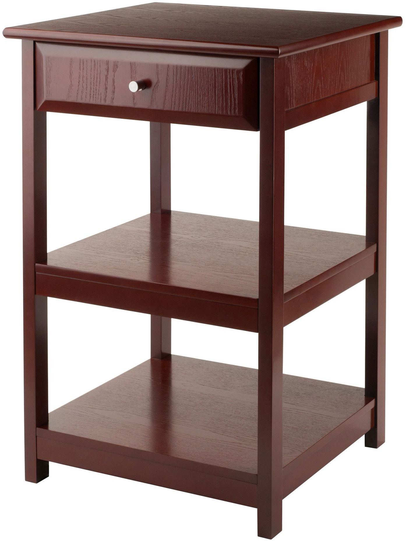 Delta 1 drawer walnut printer table from winsomewood for 1 drawer table