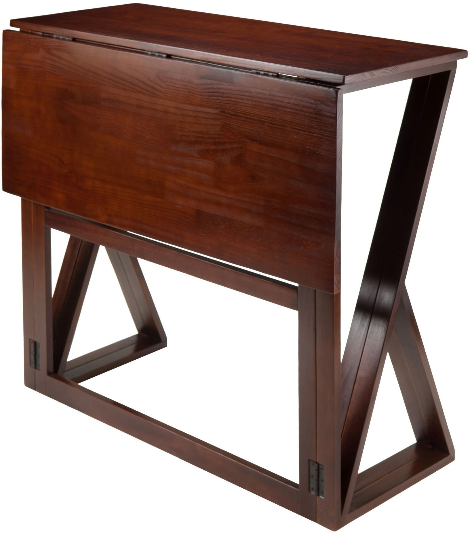 Harrington Antique Walnut Drop Leaf High Dining Table From
