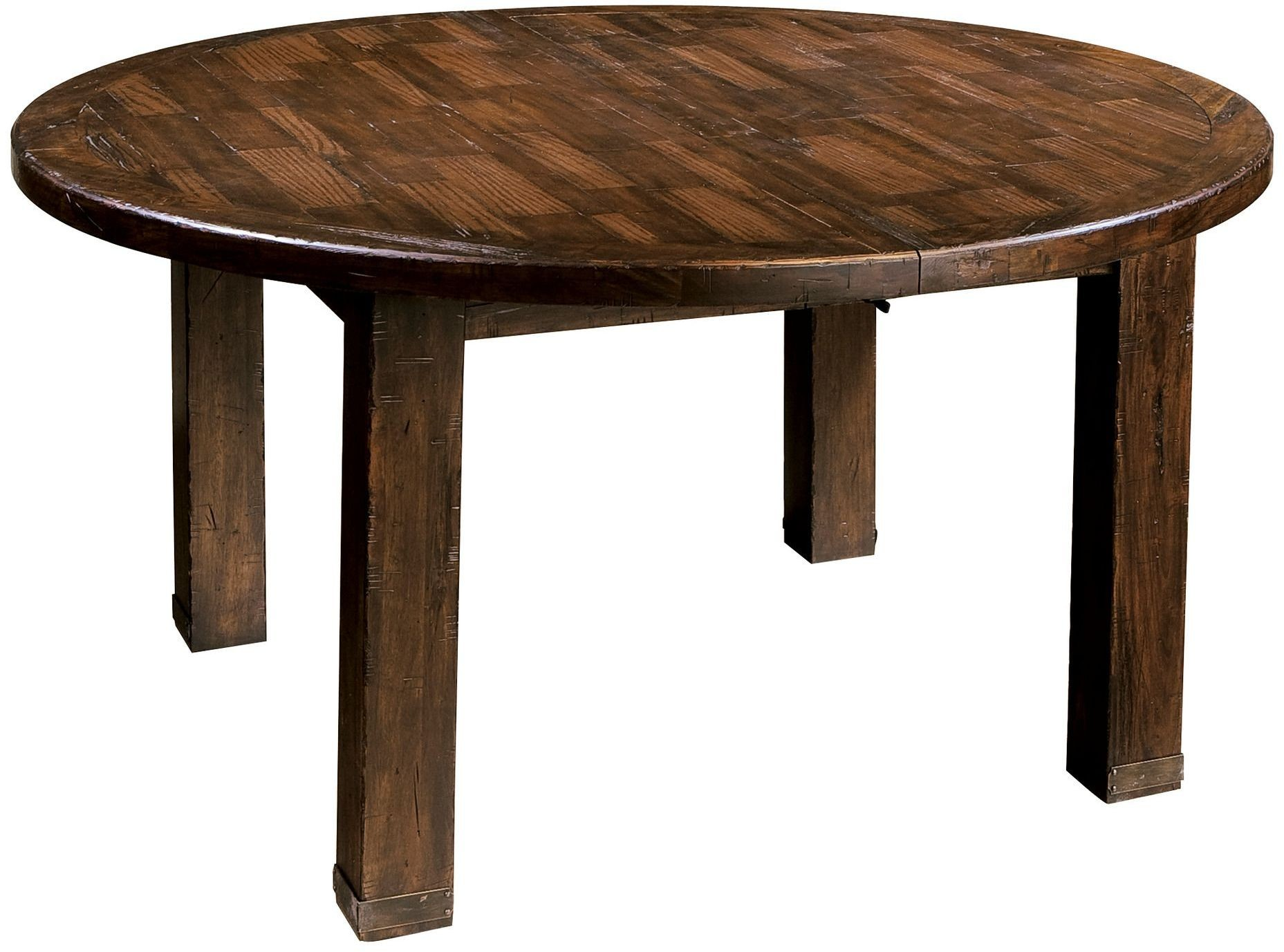 Dining Tables Rustic: Harbor Springs Rustic Hardwood Extendable Round Dining Table From Hekman Furniture