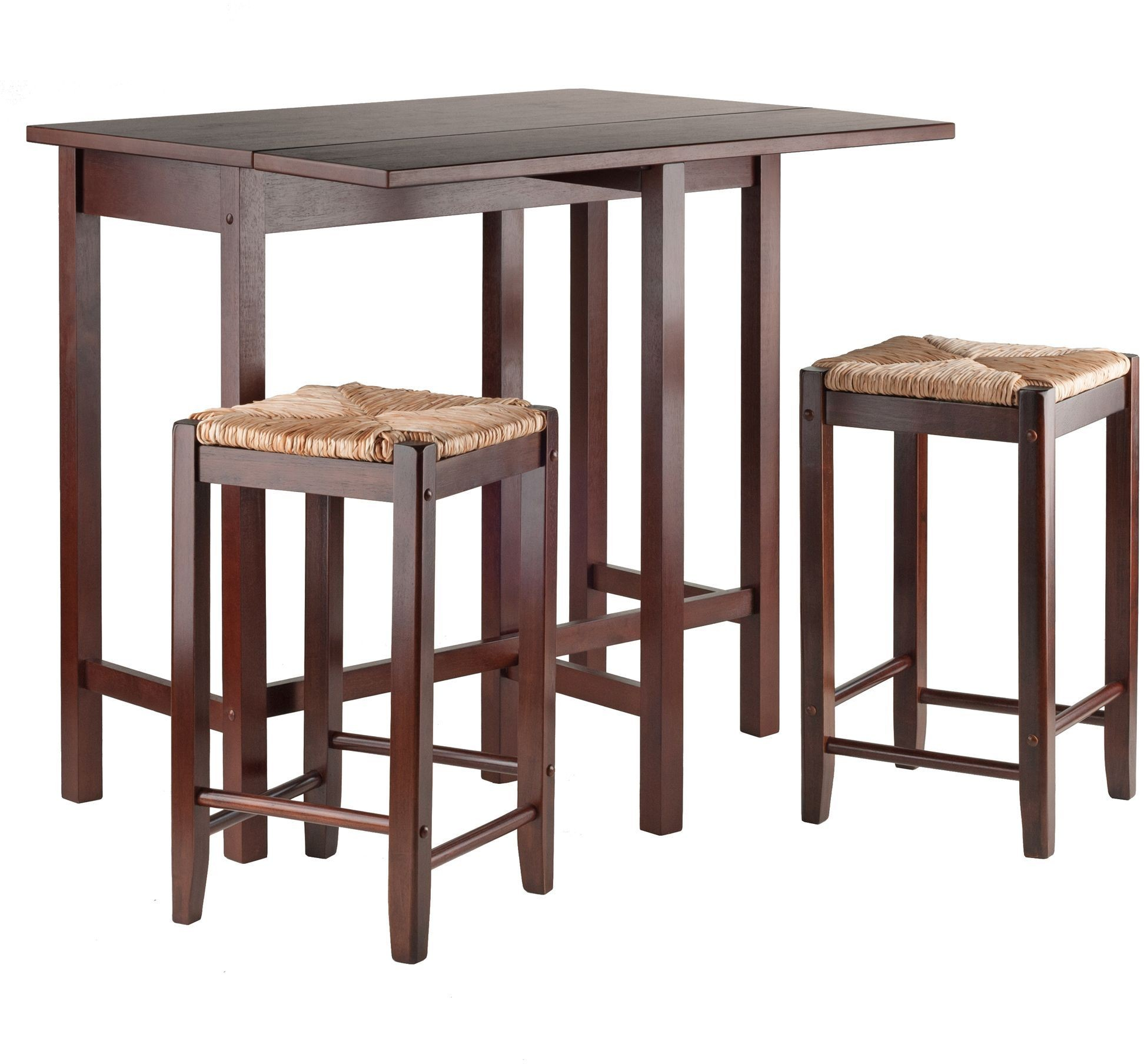 Lynnwood Antique Walnut 3 Piece Counter Height Dining Set