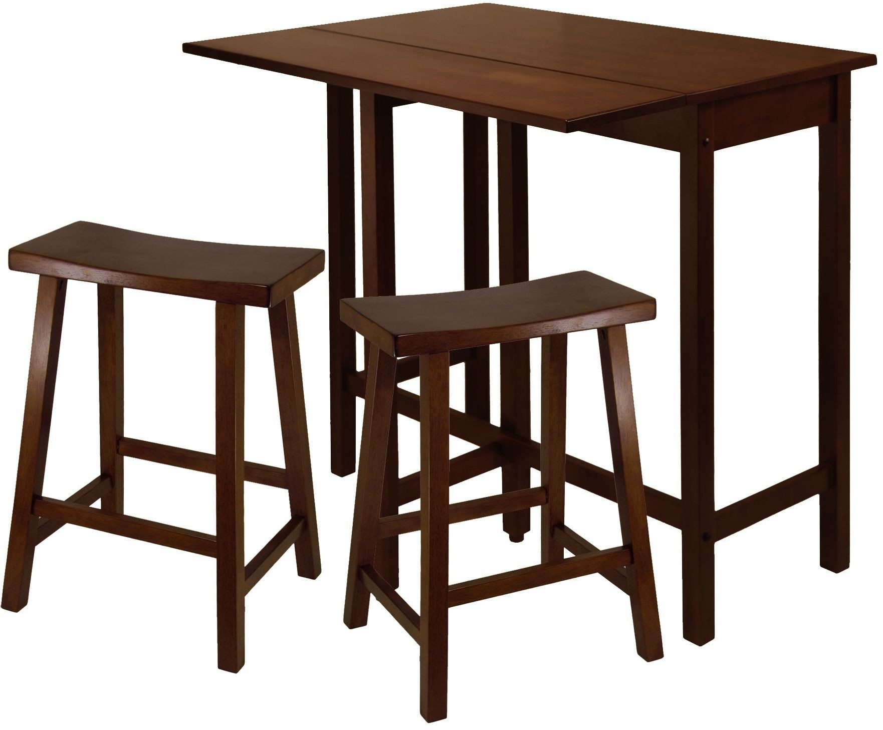 Satori Antique Walnut 24 Quot Saddle Bar Stool Set Of 2 From