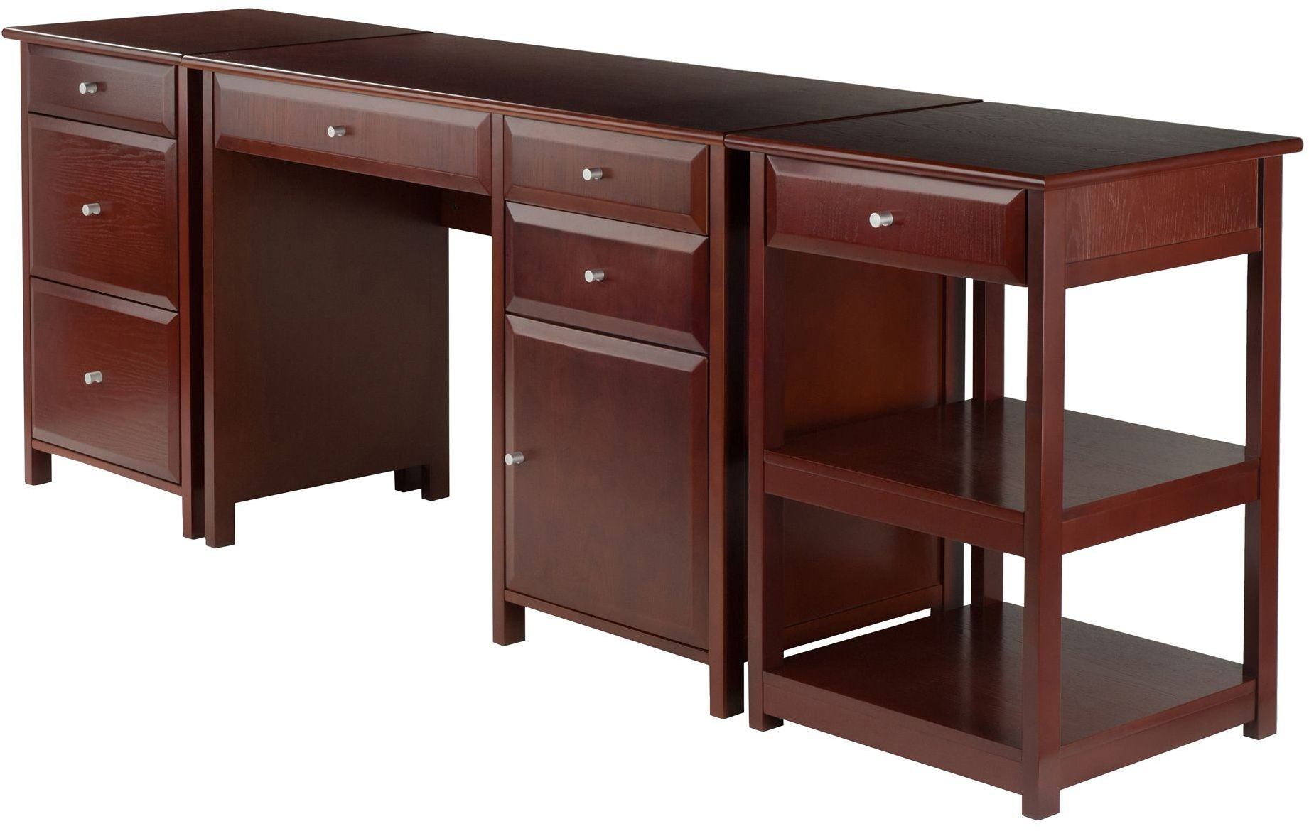 Delta walnut piece home office set from winsomewood