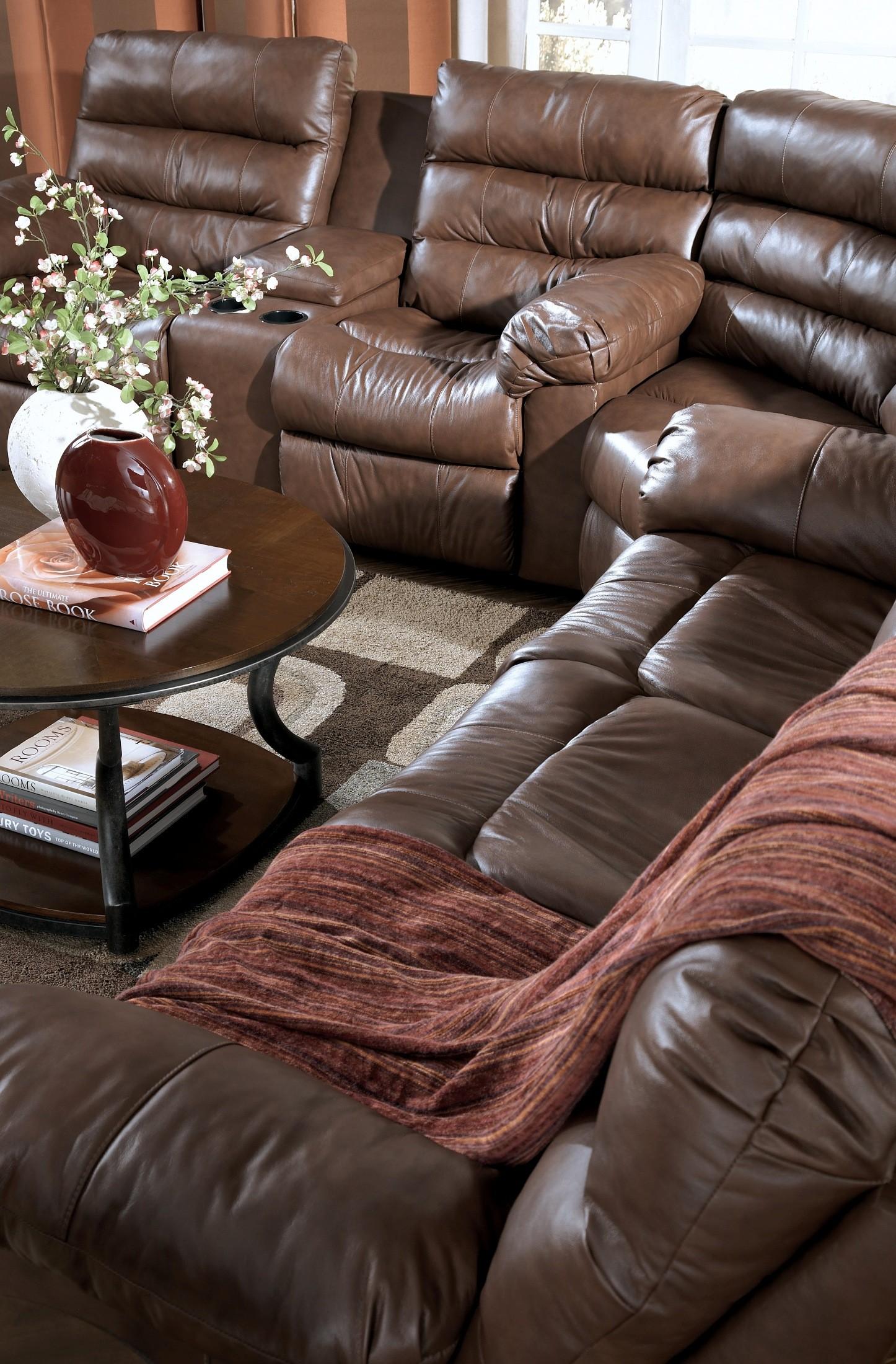 Memphis Brown Reclining Power Sofa, 9440088, Ashley Furniture
