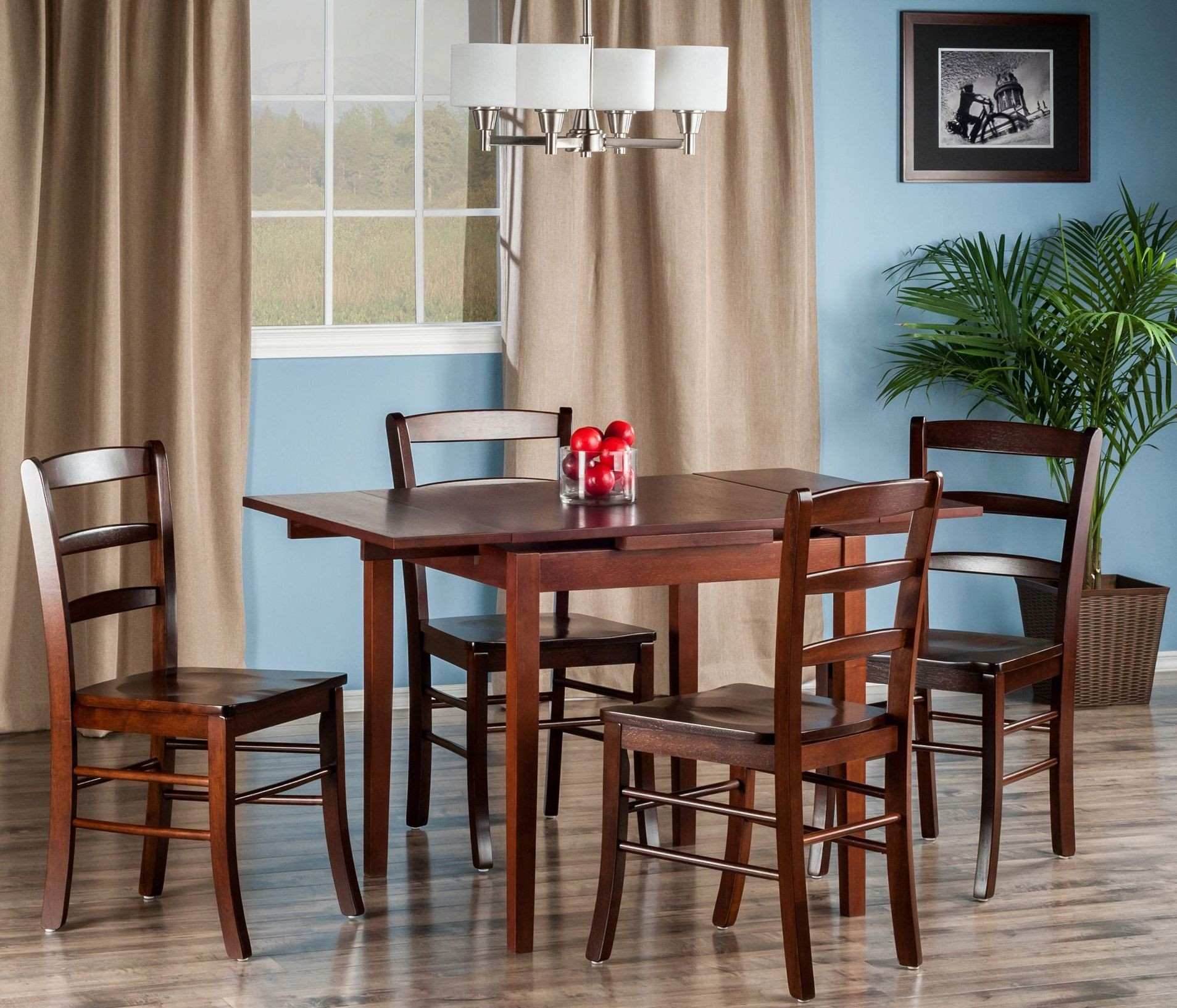 Pulman 5 piece extendable dining room set from winsomewood coleman furniture - Extending dining room sets ...